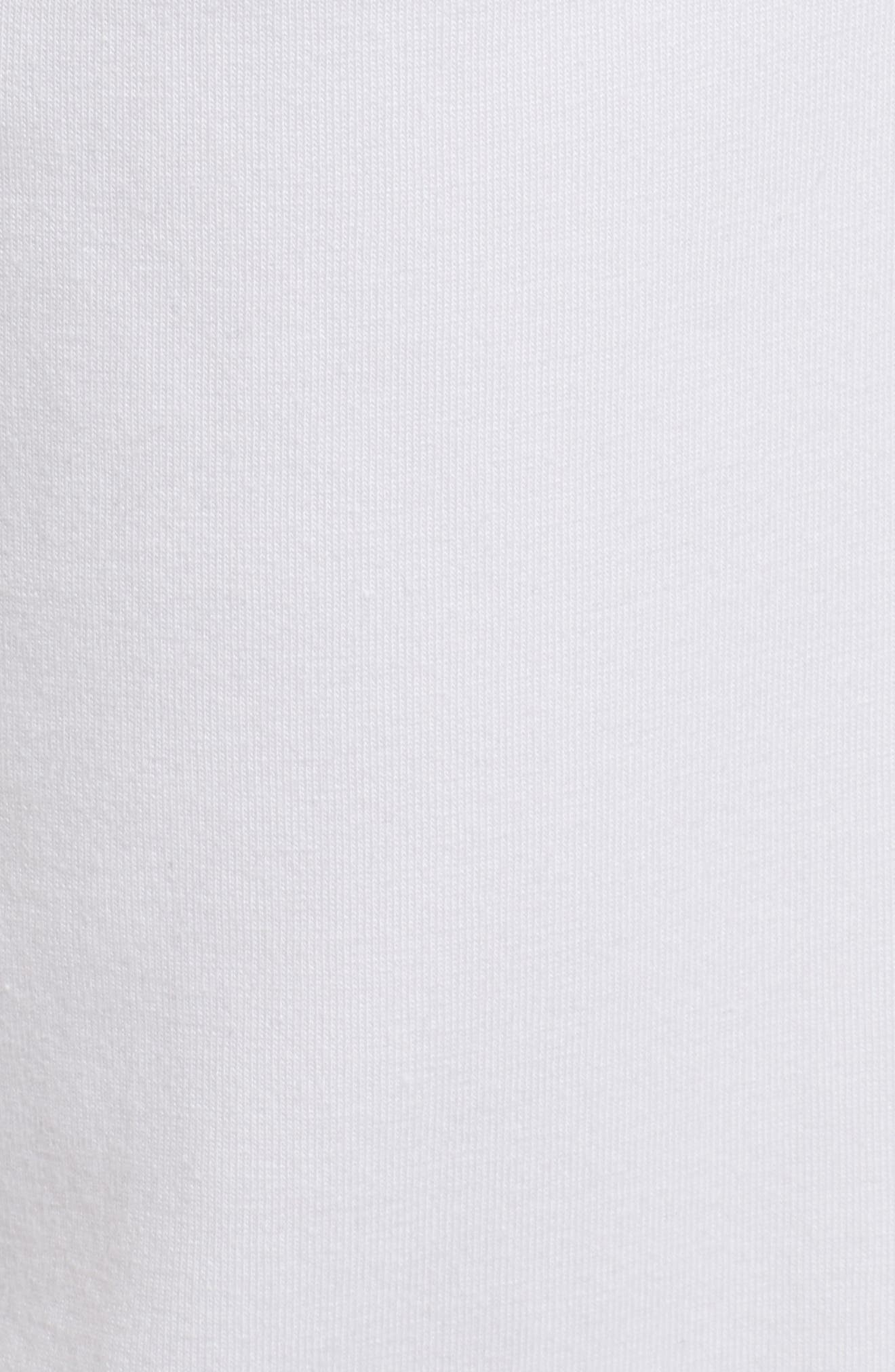 Stretch Organic Cotton Slim Slouchy Ankle Pants,                             Alternate thumbnail 5, color,                             White