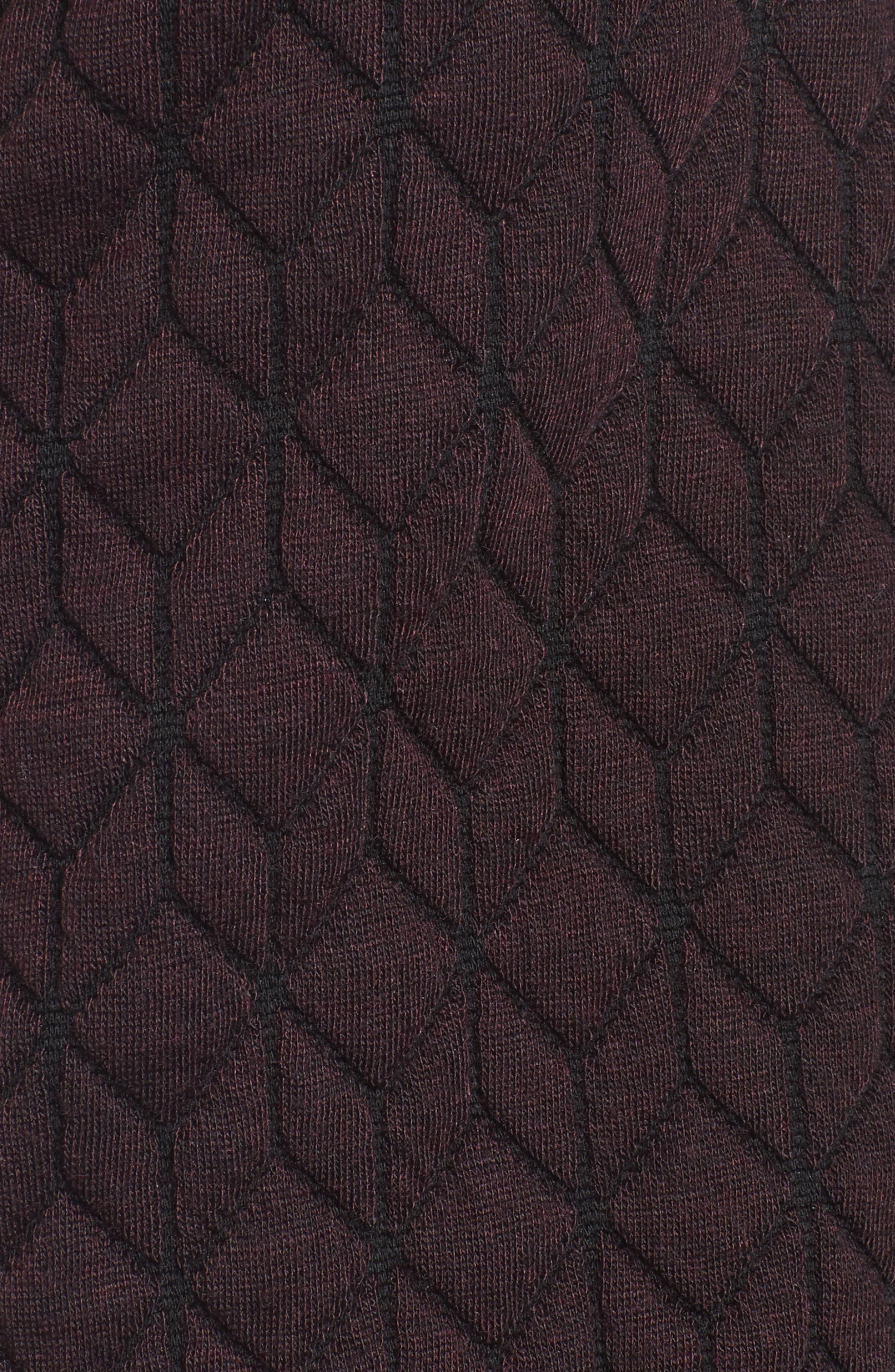 Cozy Knit Coat,                             Alternate thumbnail 5, color,                             Burgundy