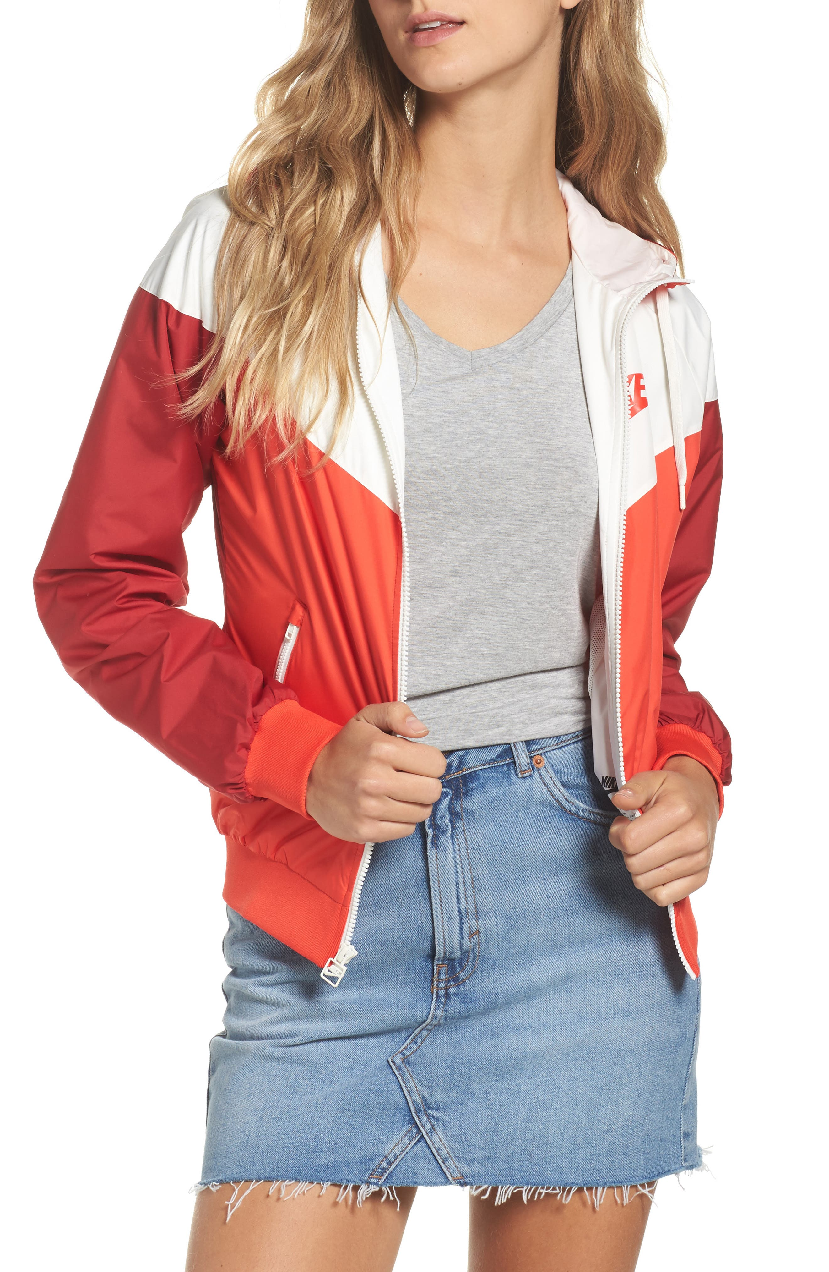 Windrunner Jacket,                         Main,                         color, Rush Red/ Rush Red