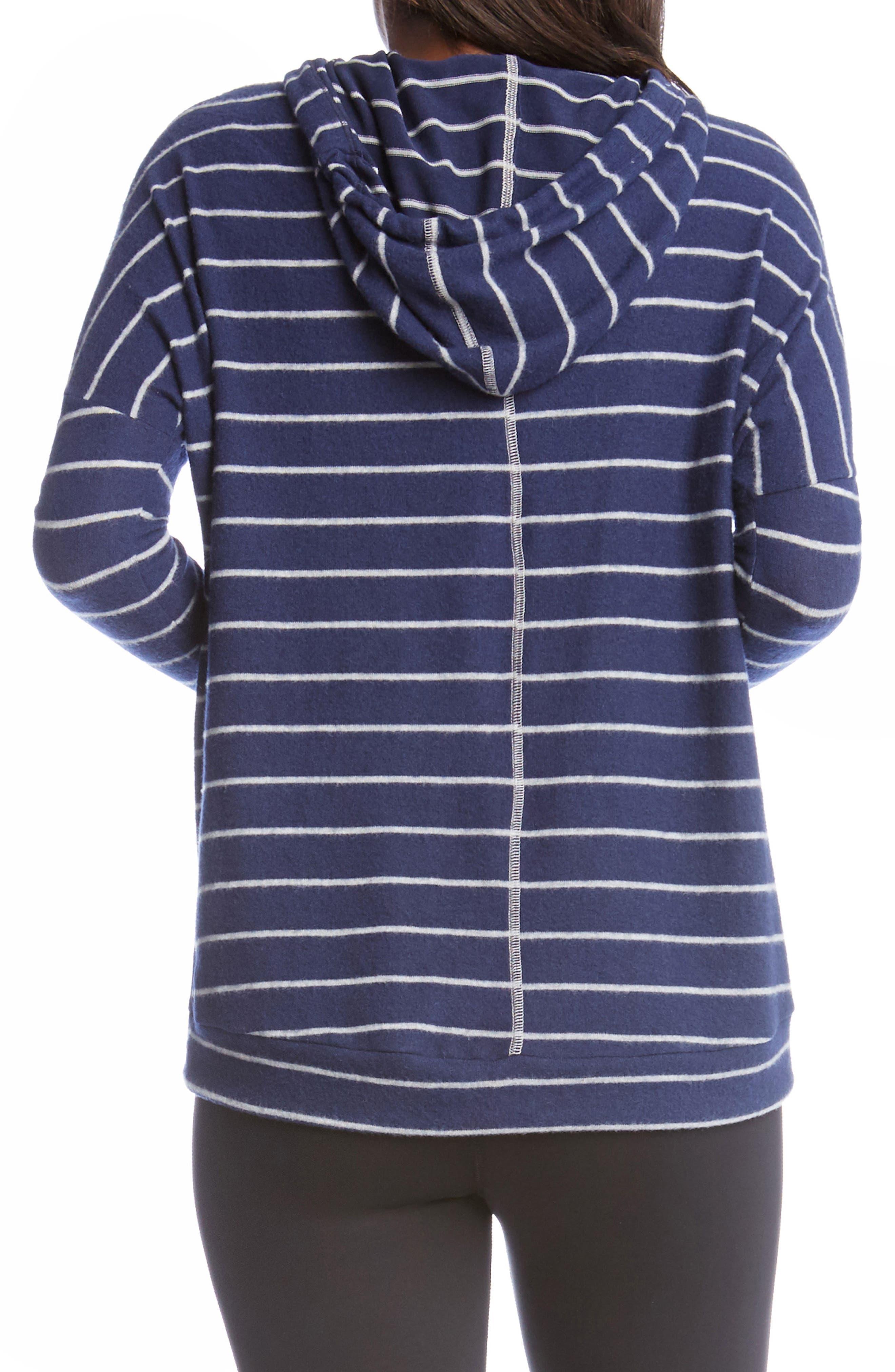 Alternate Image 2  - Karen Kane Stripe High/Low Hoodie