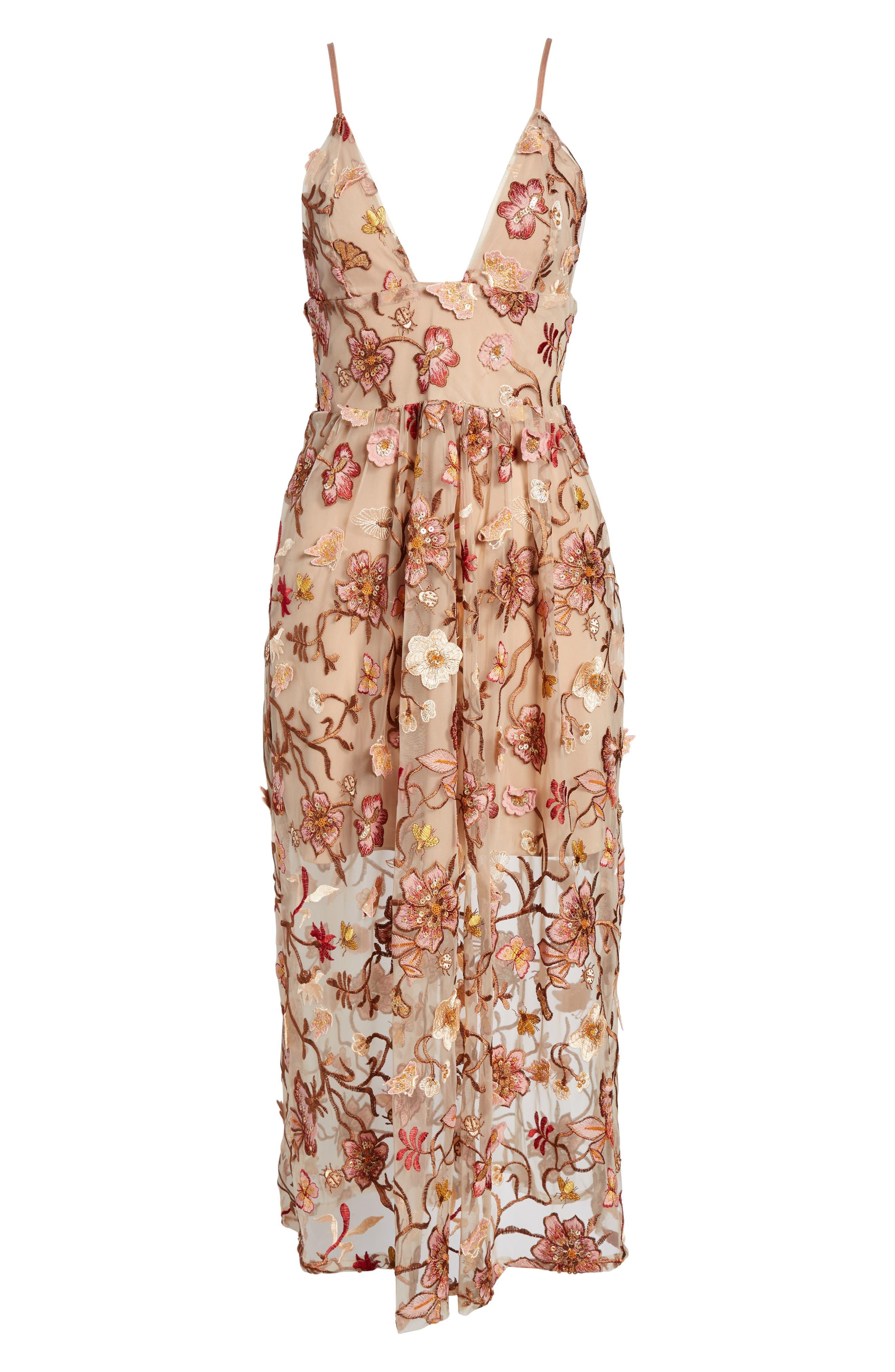 Alternate Image 6  - For Love & Lemons Botanic Midi Dress