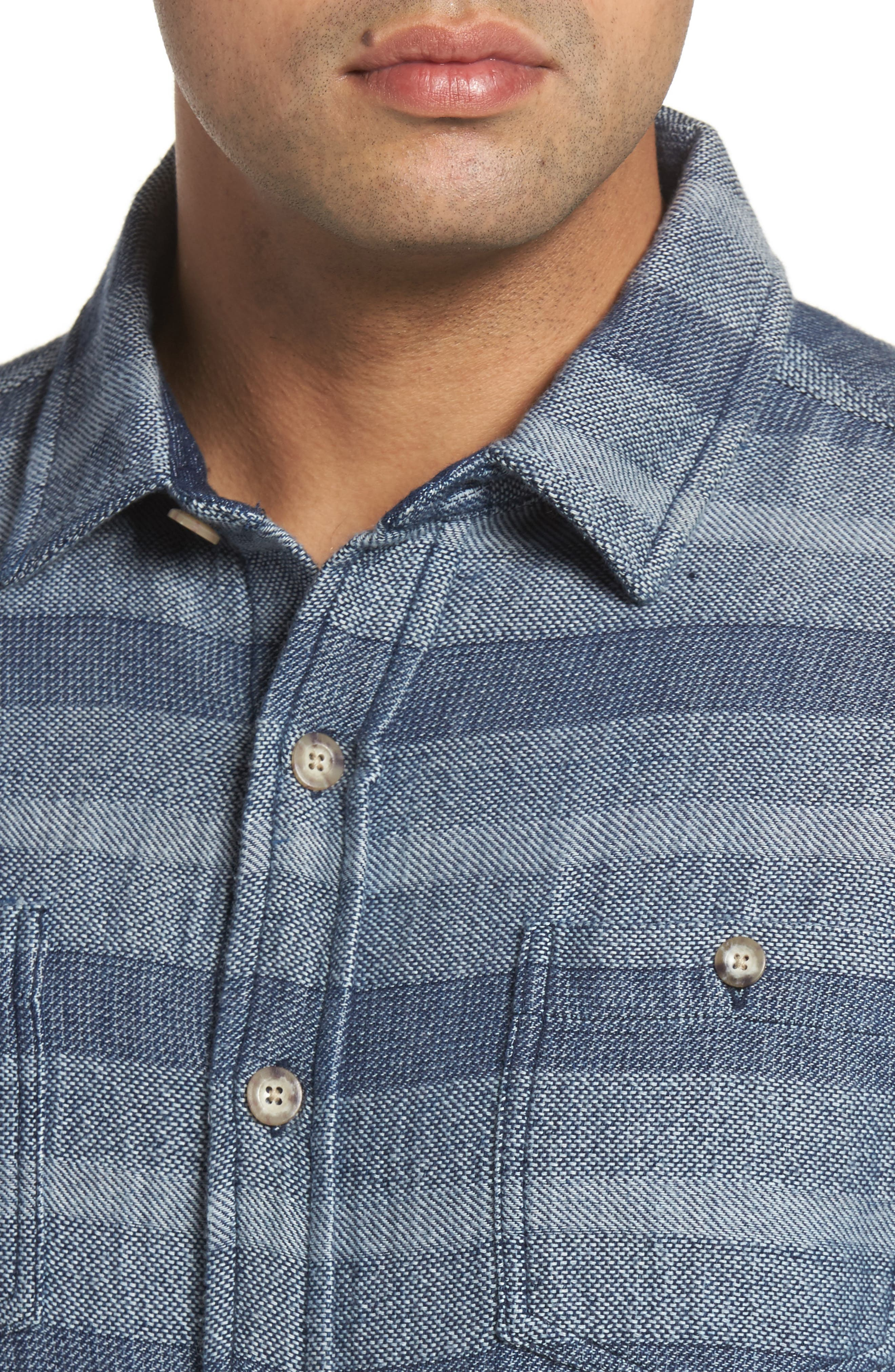 Alternate Image 4  - johnnie-O Teton Classic Fit Stripe Sport Shirt
