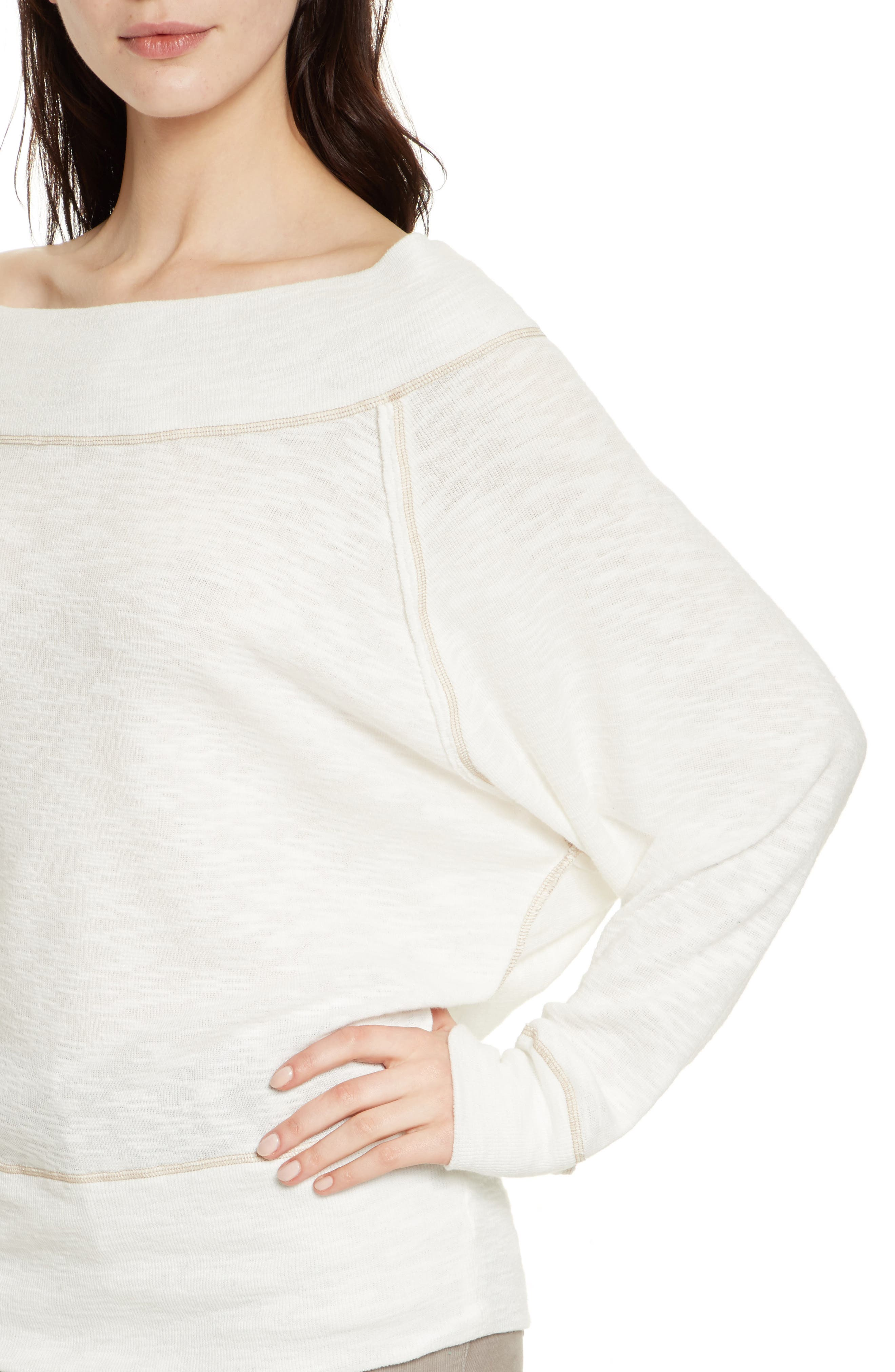 Palisades Off the Shoulder Top,                             Alternate thumbnail 4, color,                             Ivory