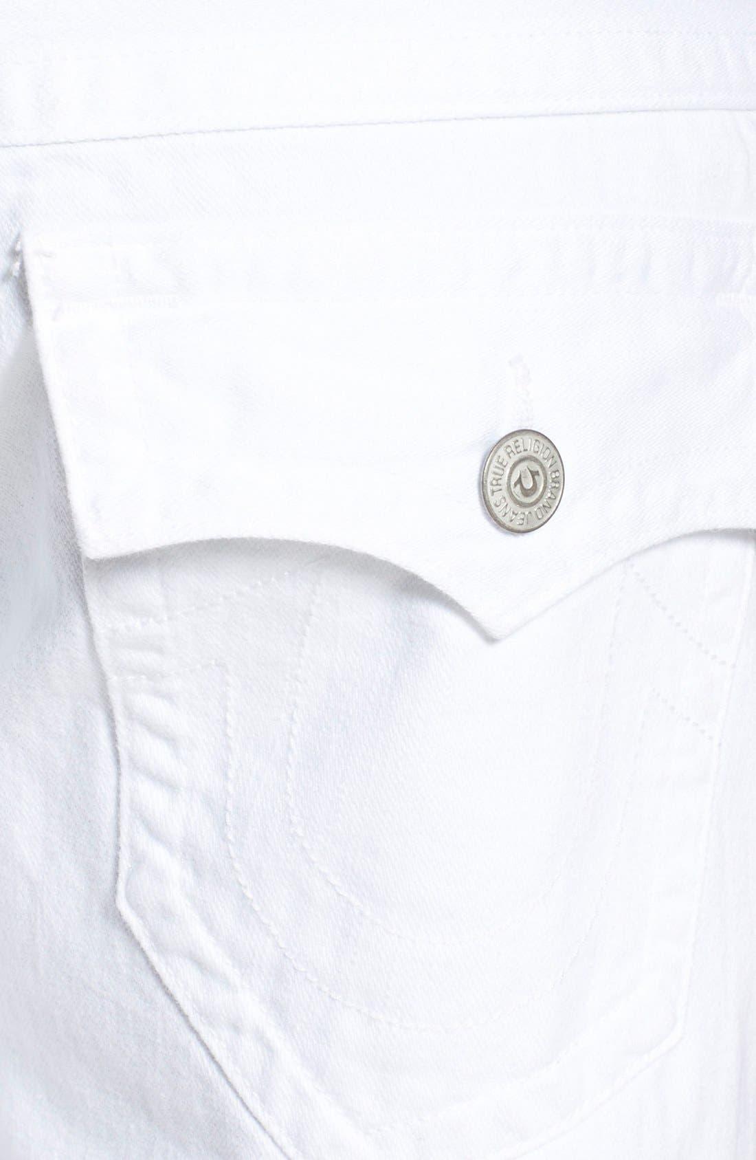 'Geno' Straight Leg Jeans,                             Alternate thumbnail 4, color,                             Optic White