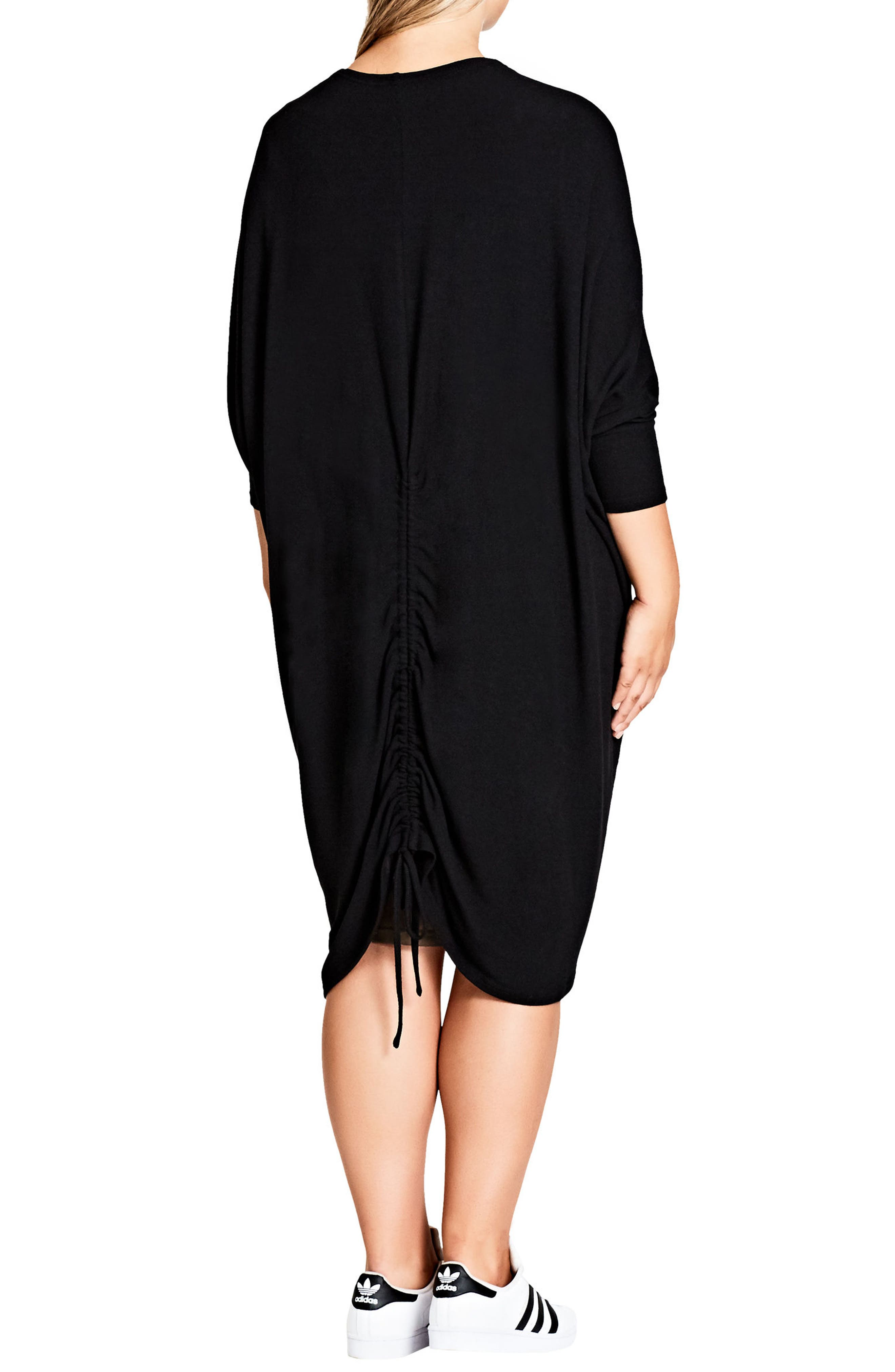 Alternate Image 2  - City Chic Drawstring Back Cardigan (Plus Size)