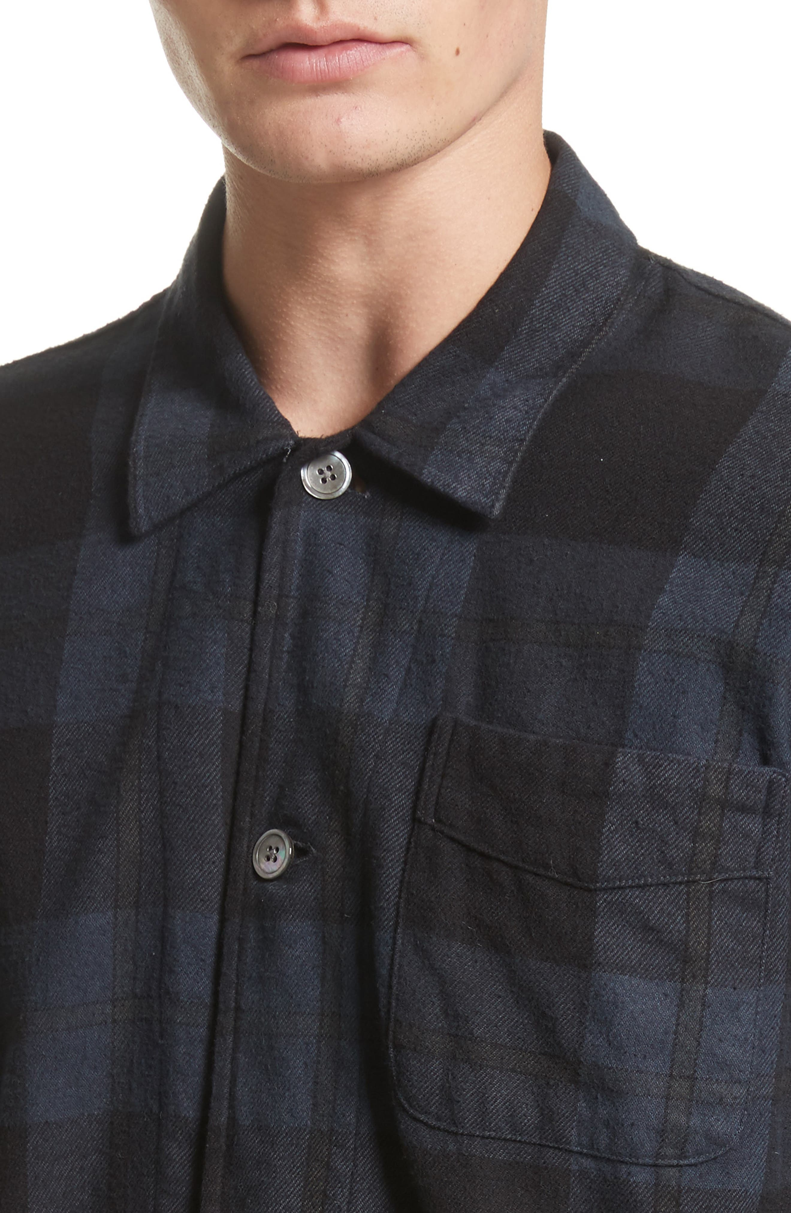Alternate Image 4  - OUR LEGACY Box Plaid Flannel Sport Shirt