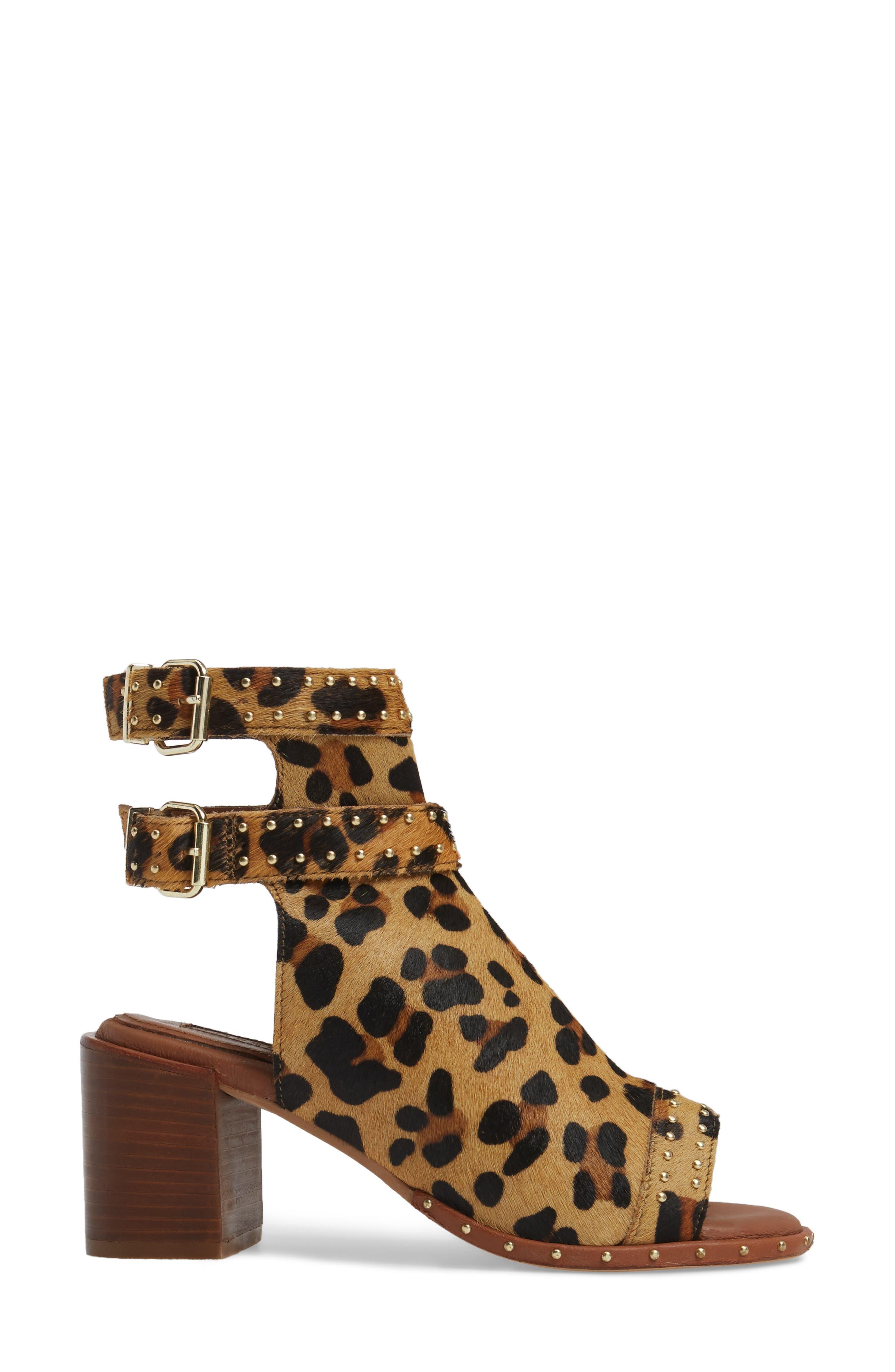 North Studded Bootie Sandal,                             Alternate thumbnail 3, color,                             Leopard