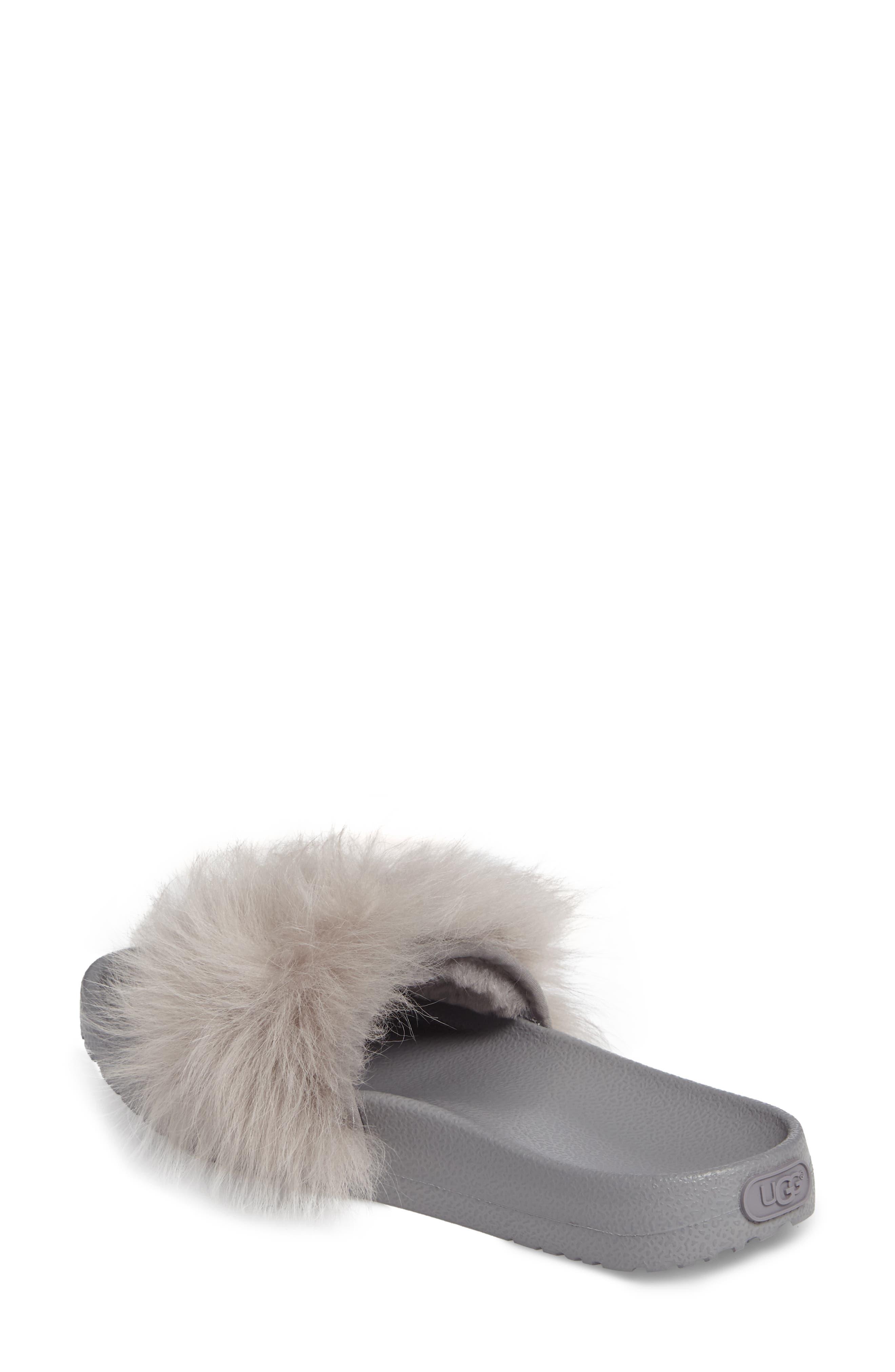 Royale Genuine Shearling Slide Sandal,                             Alternate thumbnail 2, color,                             Seal