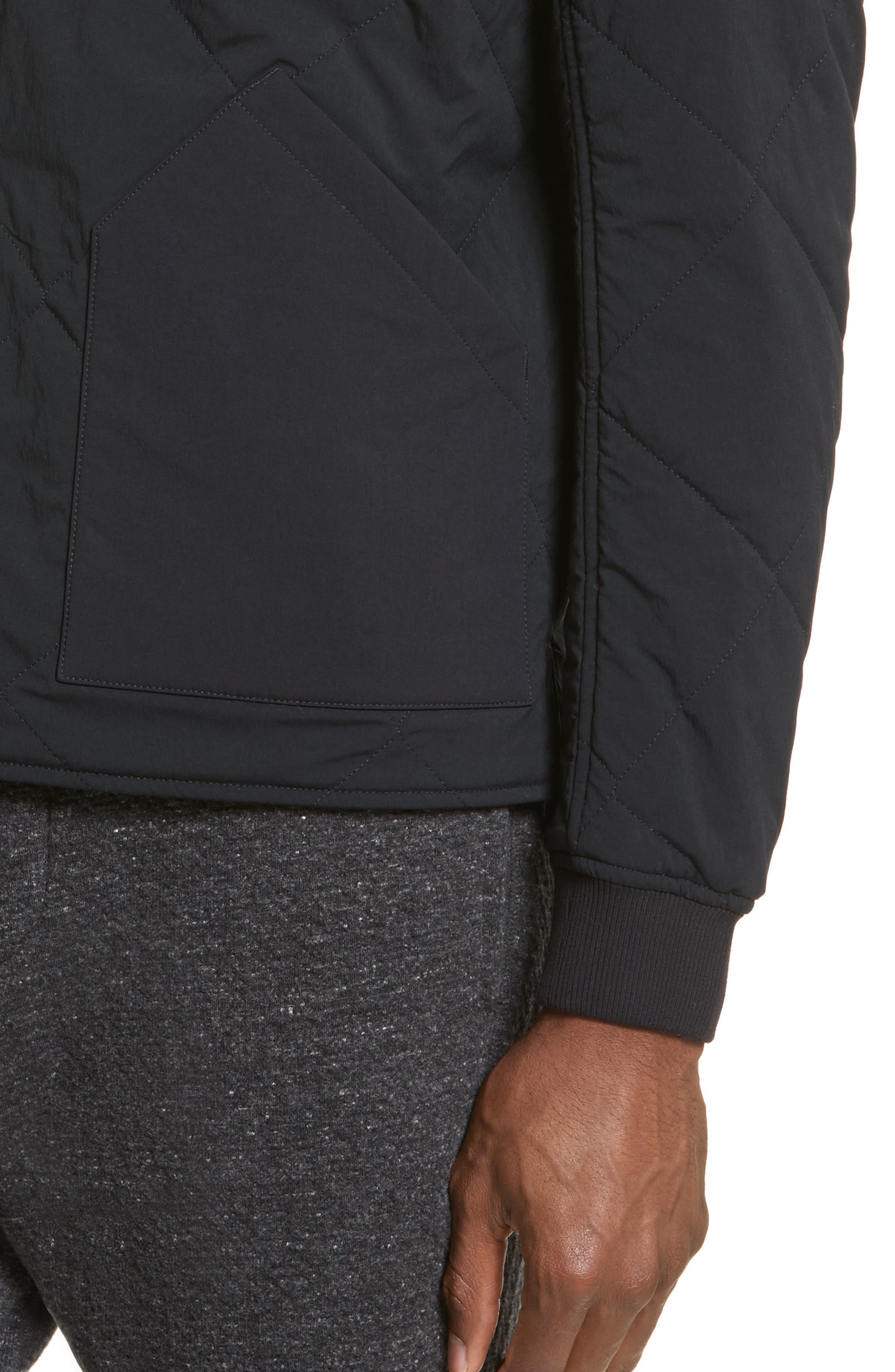Alternate Image 4  - wings + horns Alpha Quilted Bomber Jacket