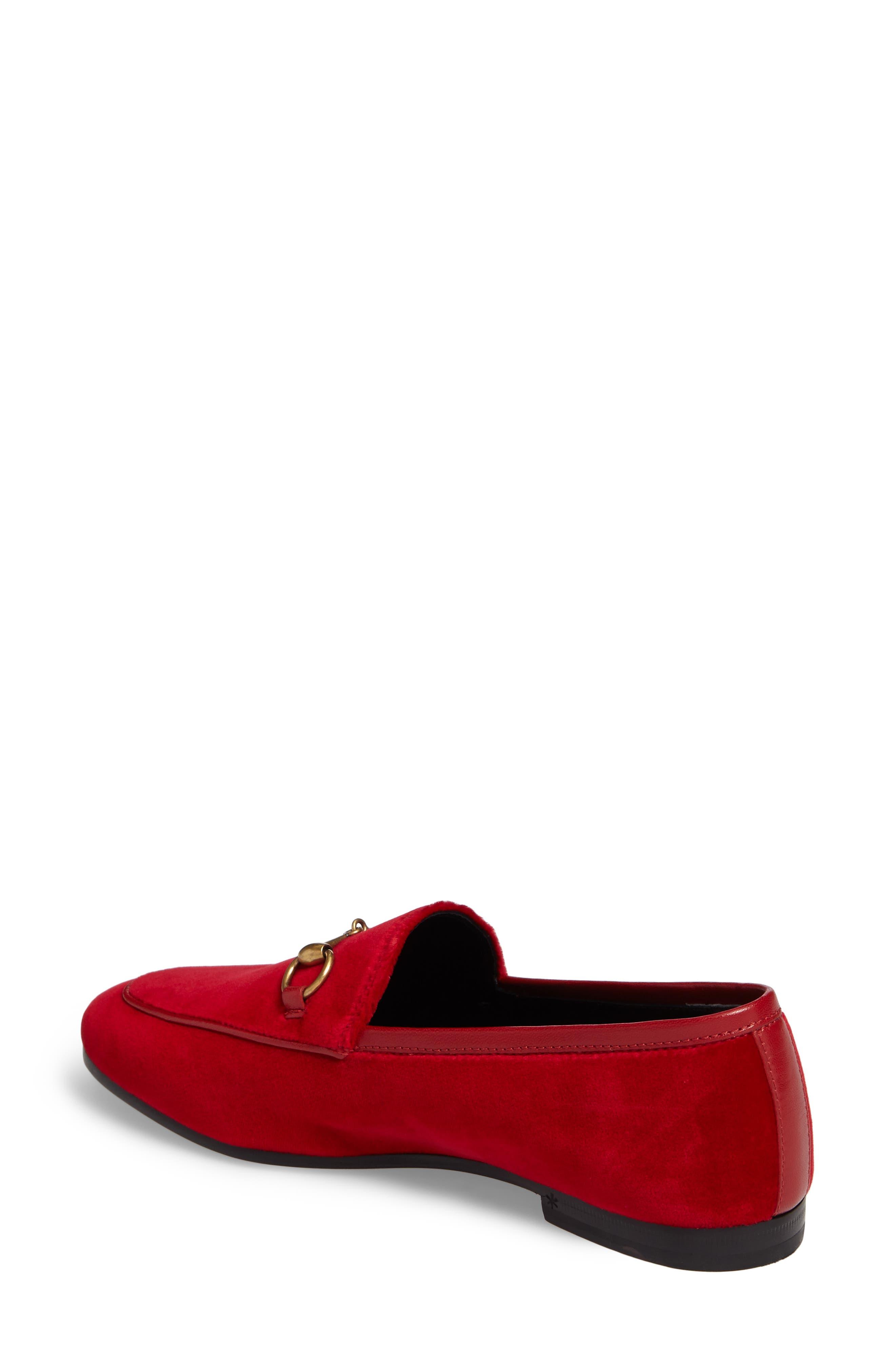 Alternate Image 2  - Gucci Brixton Velvet Loafer (Women)