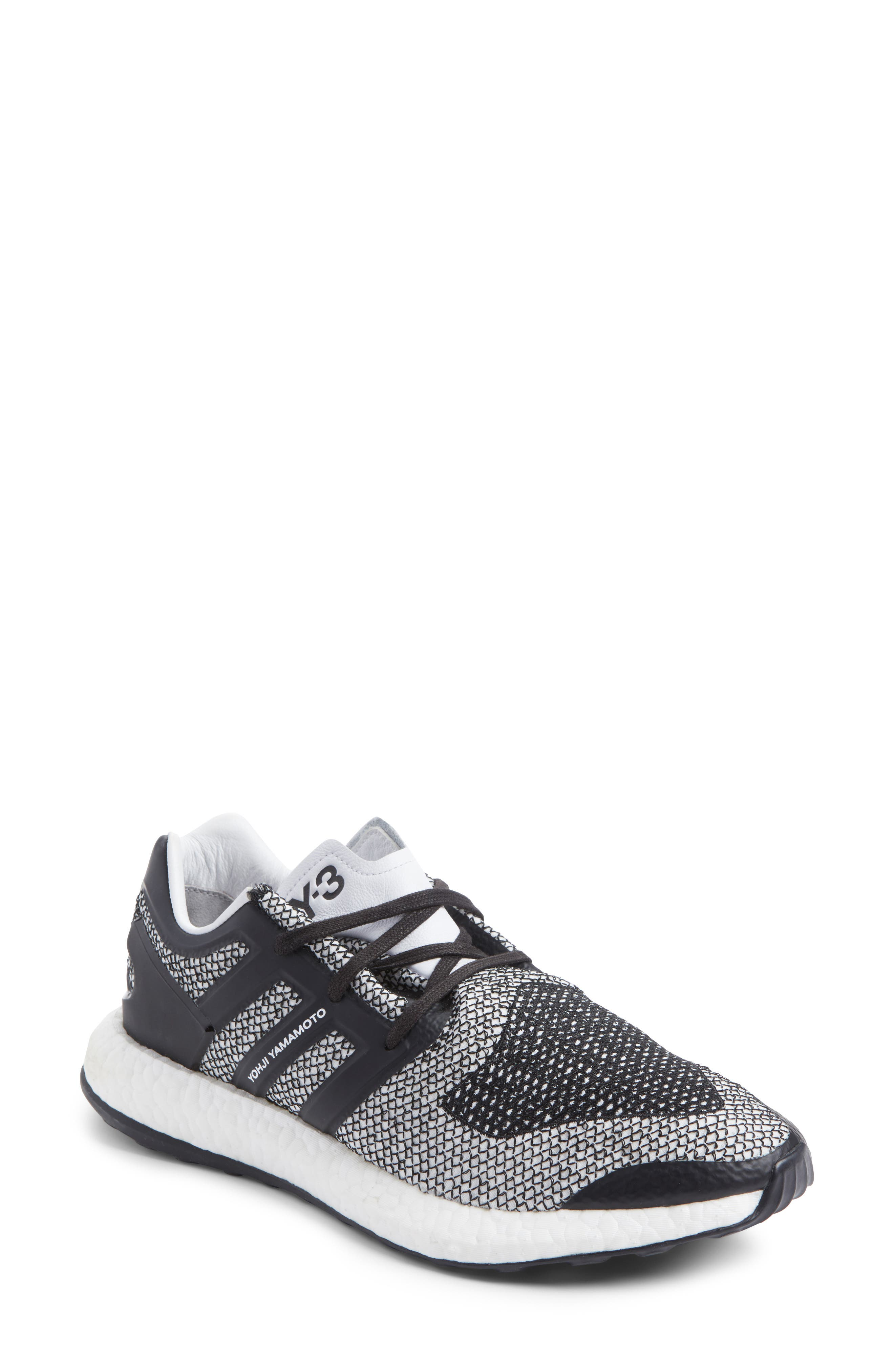 PureBoost Sneaker,                         Main,                         color, White/ Core Black