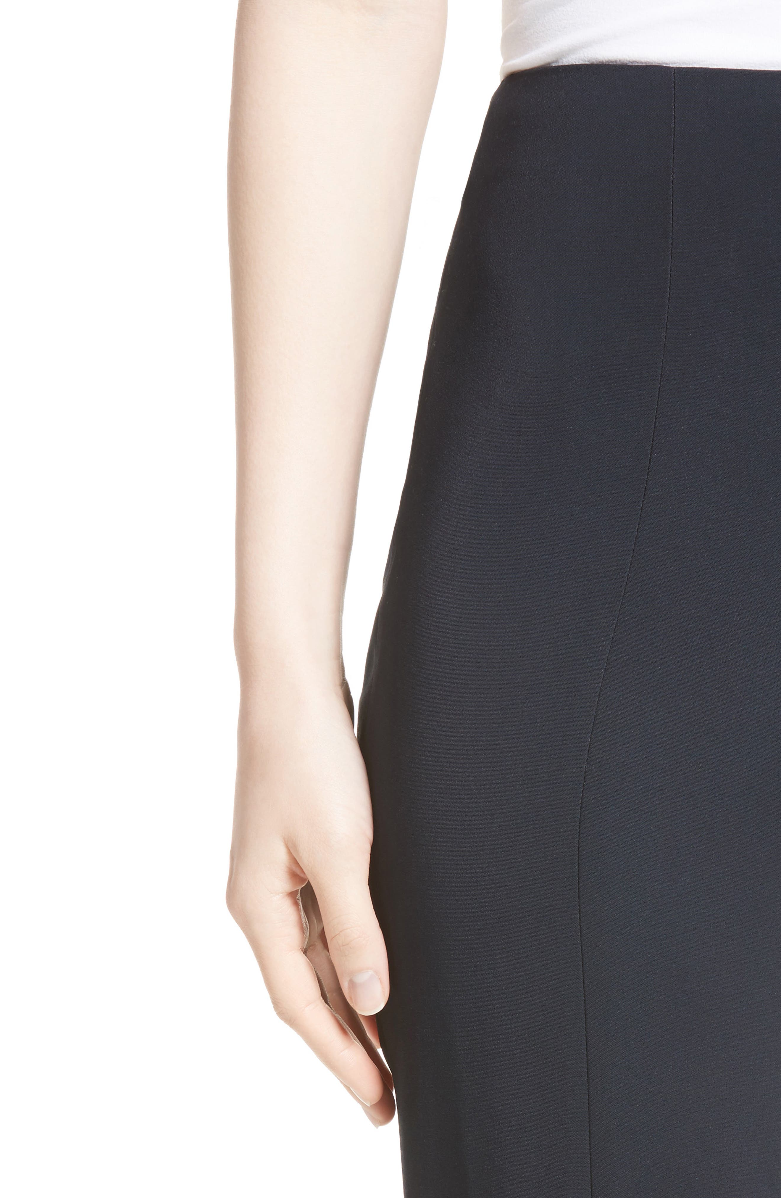 Slit Hem Crop Pants,                             Alternate thumbnail 5, color,                             Midnight