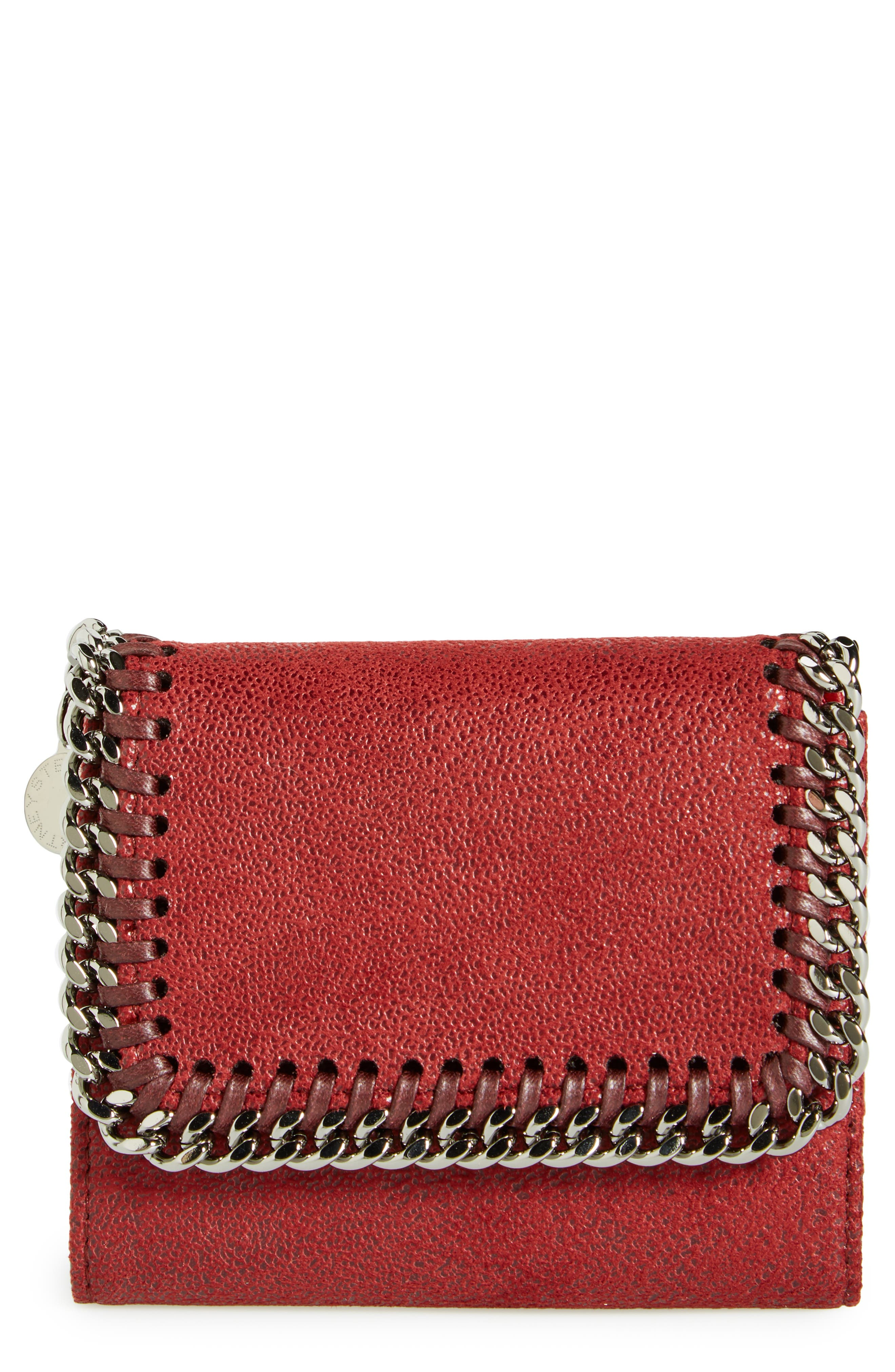 Alternate Image 1 Selected - Stella McCartney 'Small Falabella' Faux Leather French Wallet