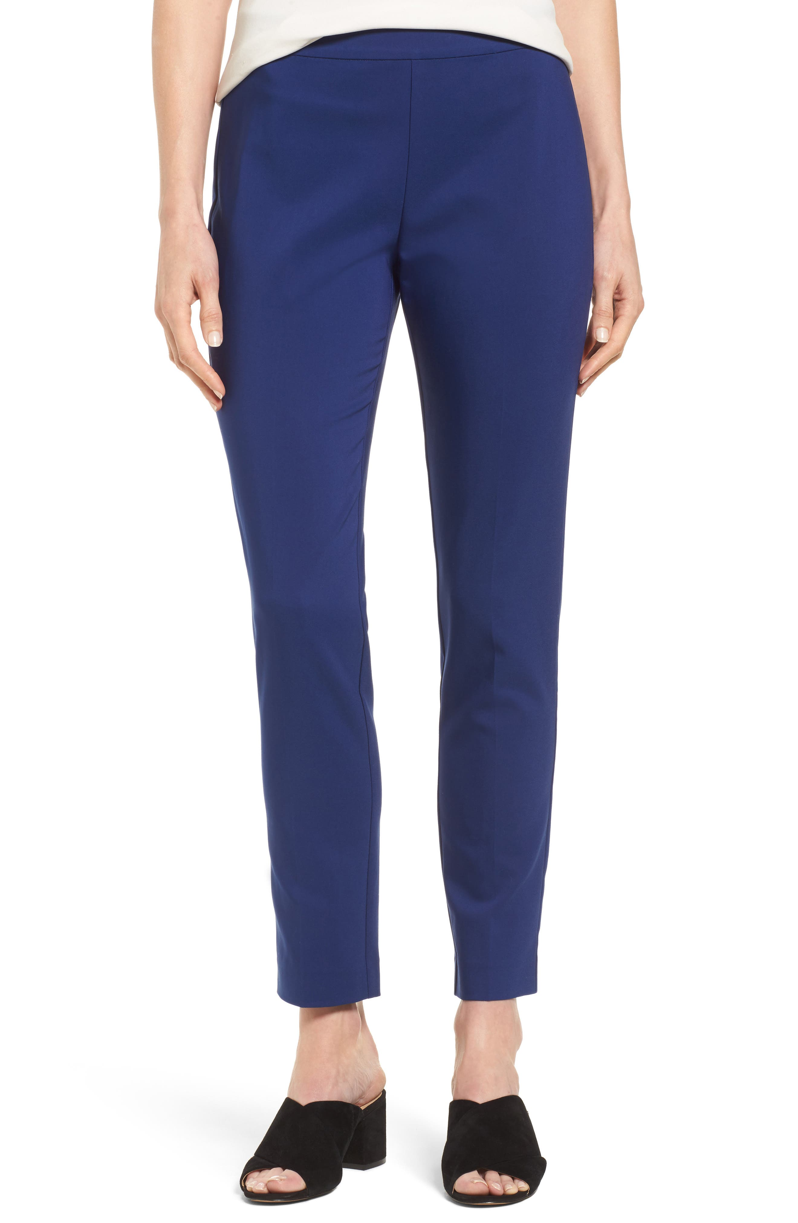 Jackie Pull-On Ankle Pants,                             Main thumbnail 1, color,                             Blue Depths