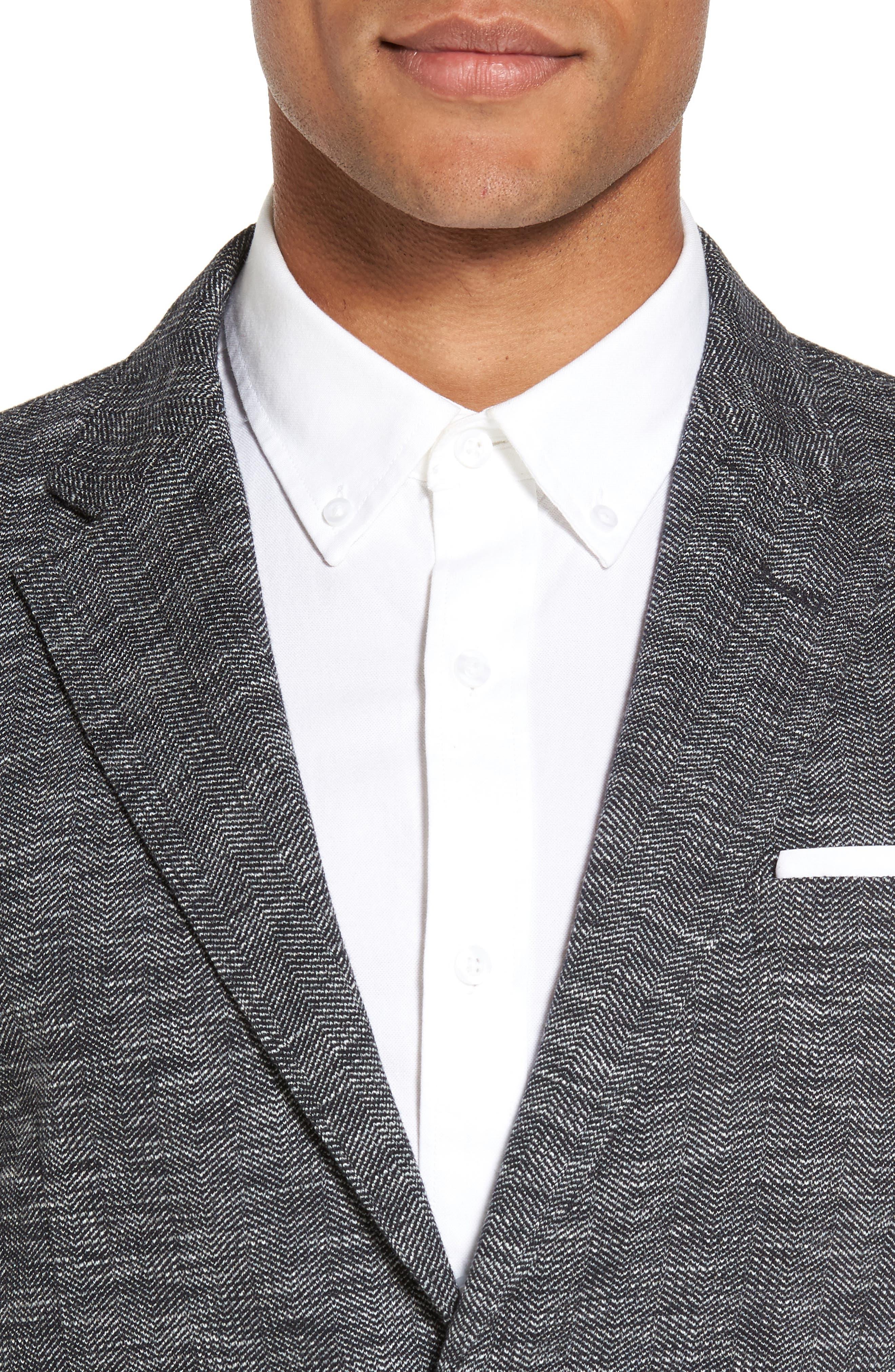 Alternate Image 4  - Good Man Brand Slim Fit Vintage Herringbone Knit Blazer