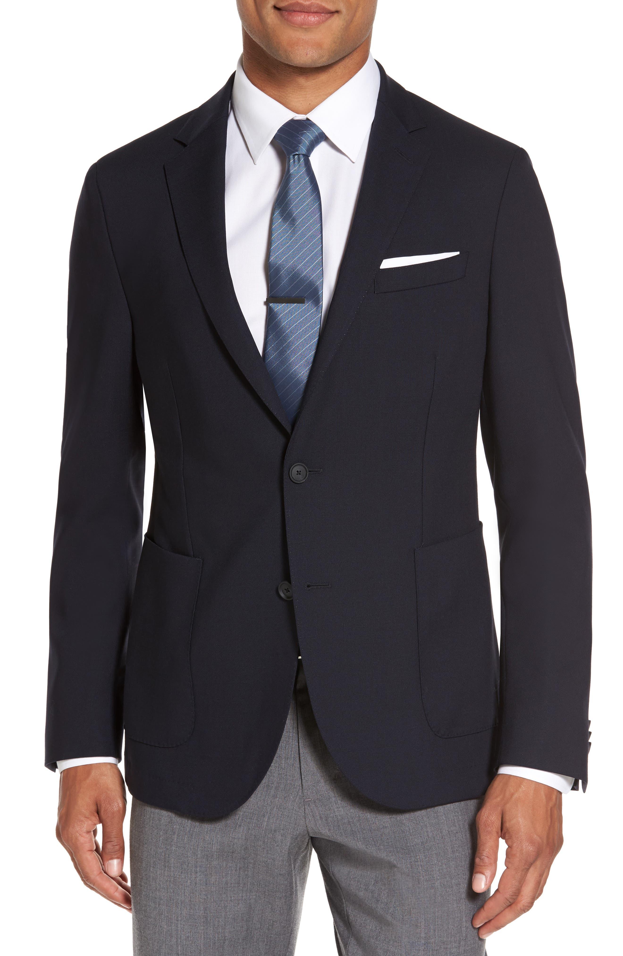 Nelven Trim Fit Travel Blazer,                         Main,                         color, Navy