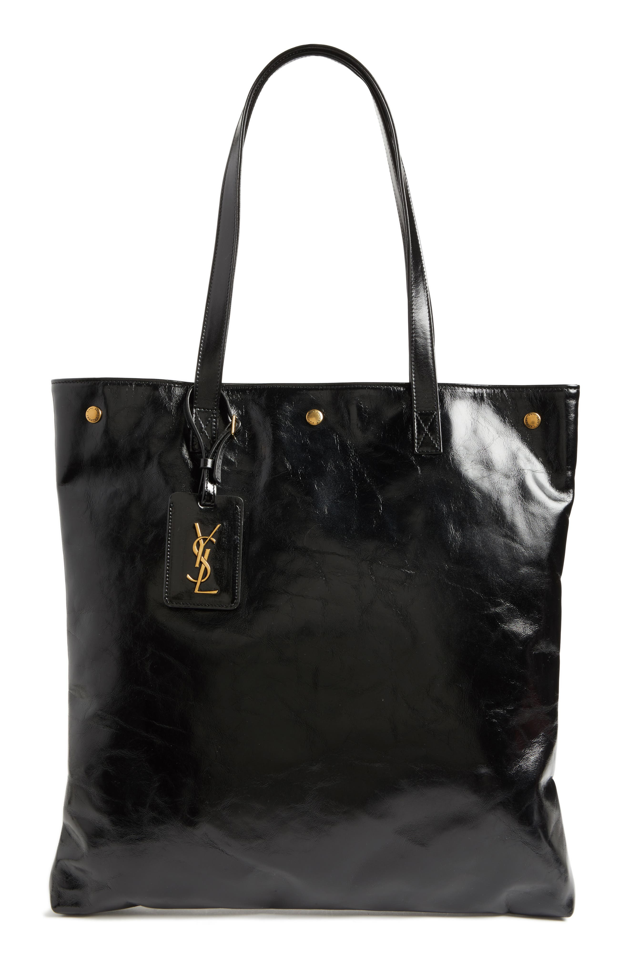 SAINT LAURENT Noe Glacé Moroder Leather Tote