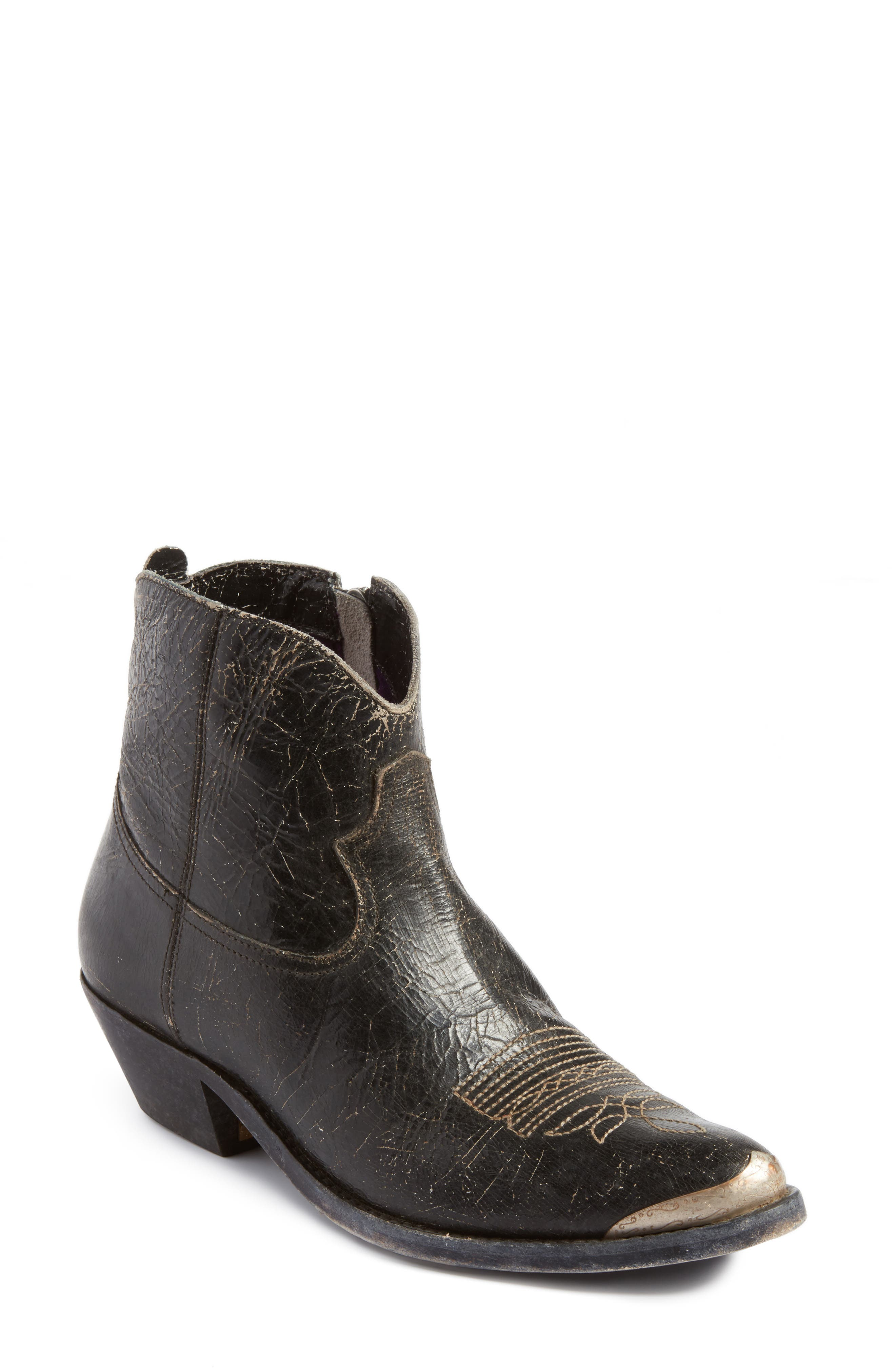 Young Western Boot,                         Main,                         color, Black