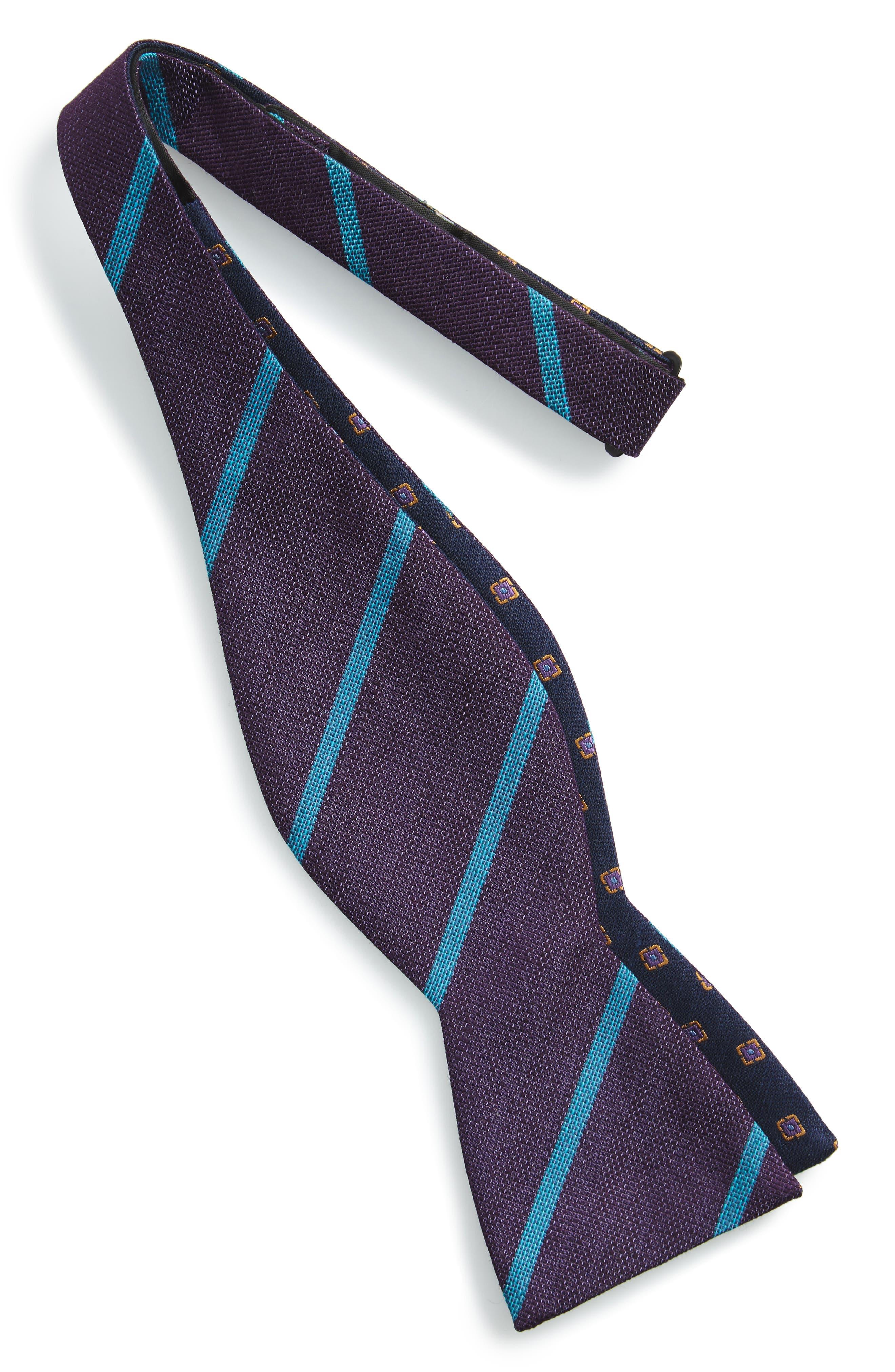 Alternate Image 2  - The Tie Bar Spring Break Reversible Silk & Linen Bow Tie