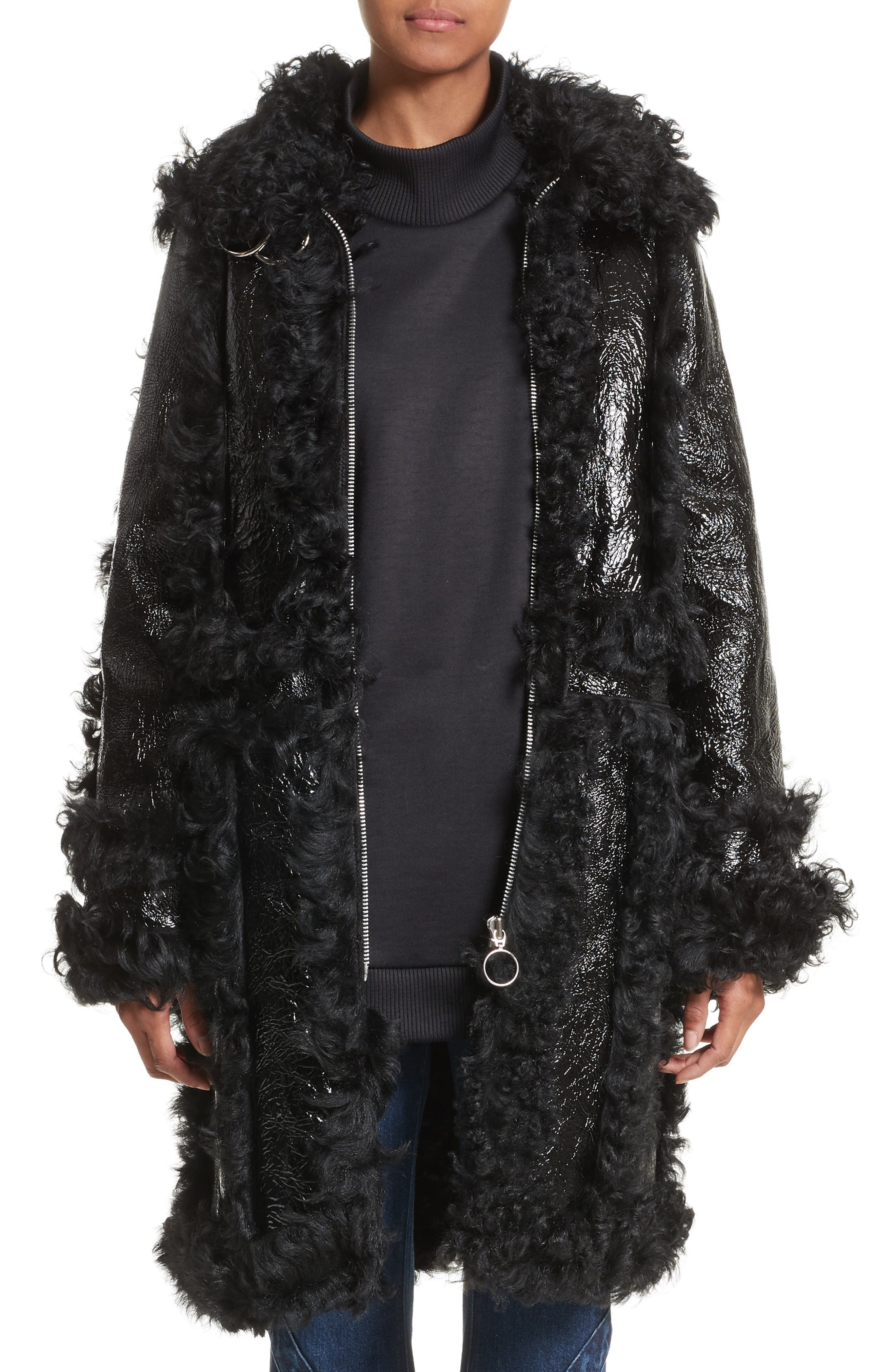 Marques'Almeida Foiled Genuine Shearling Coat