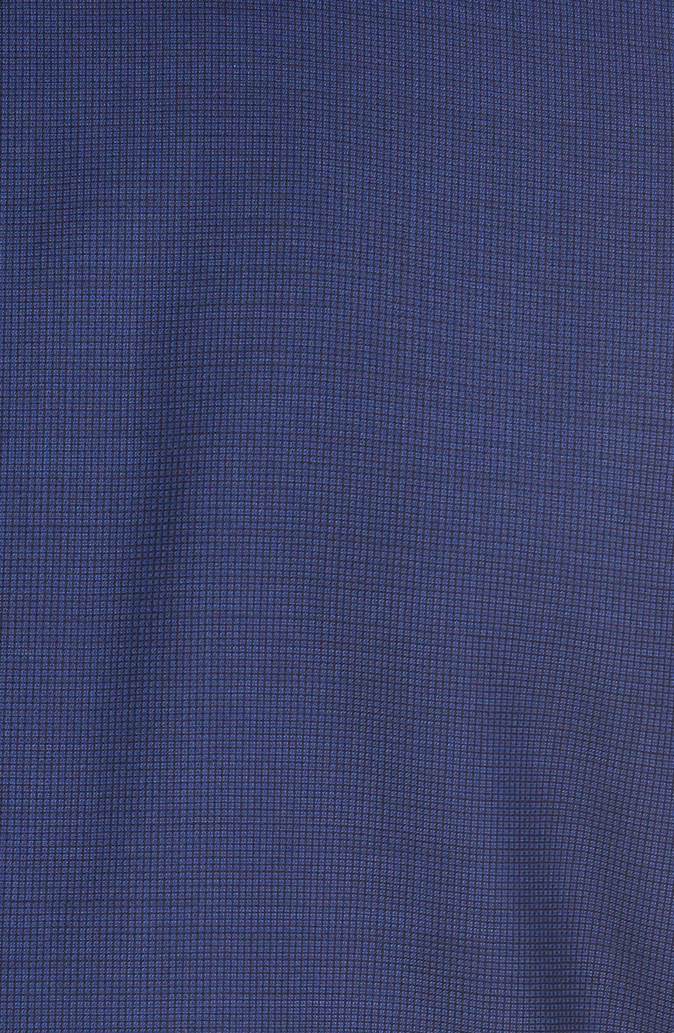 Trim Fit Solid Wool Suit,                             Alternate thumbnail 7, color,                             Bright Blue
