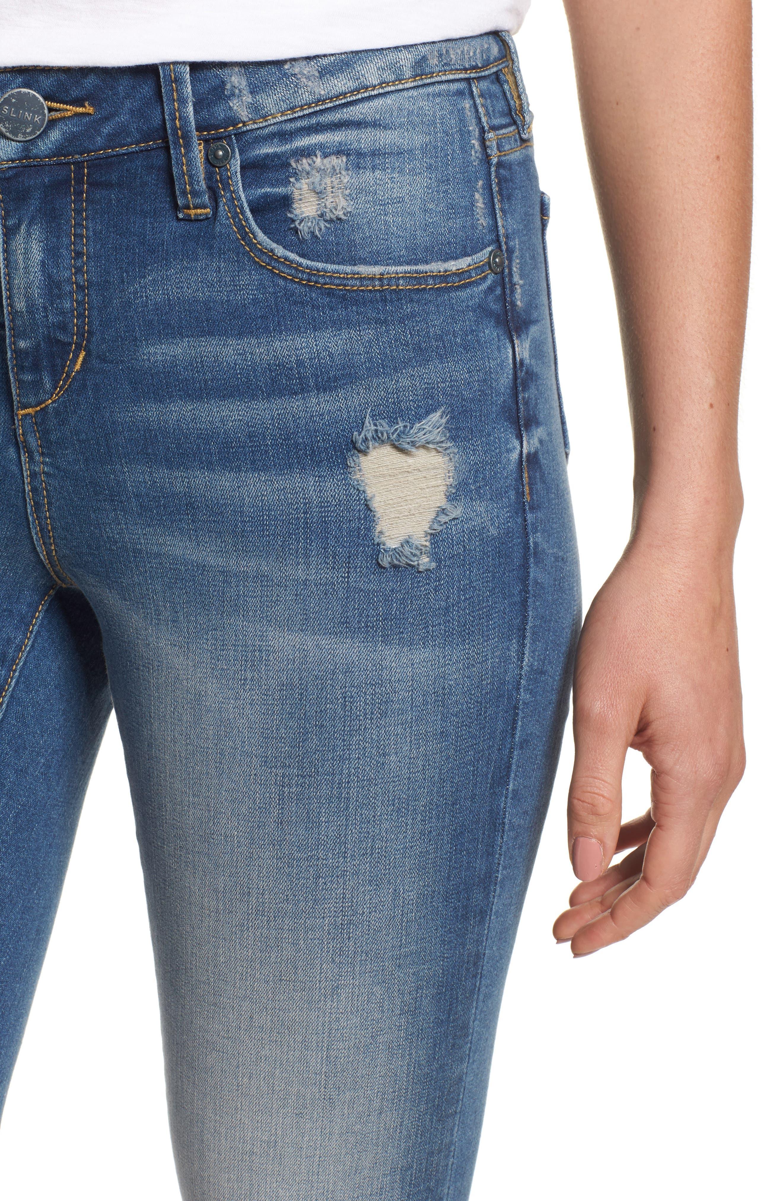Alternate Image 4  - SLINK Jeans Frayed Hem Crop Jeans (Caralyn)