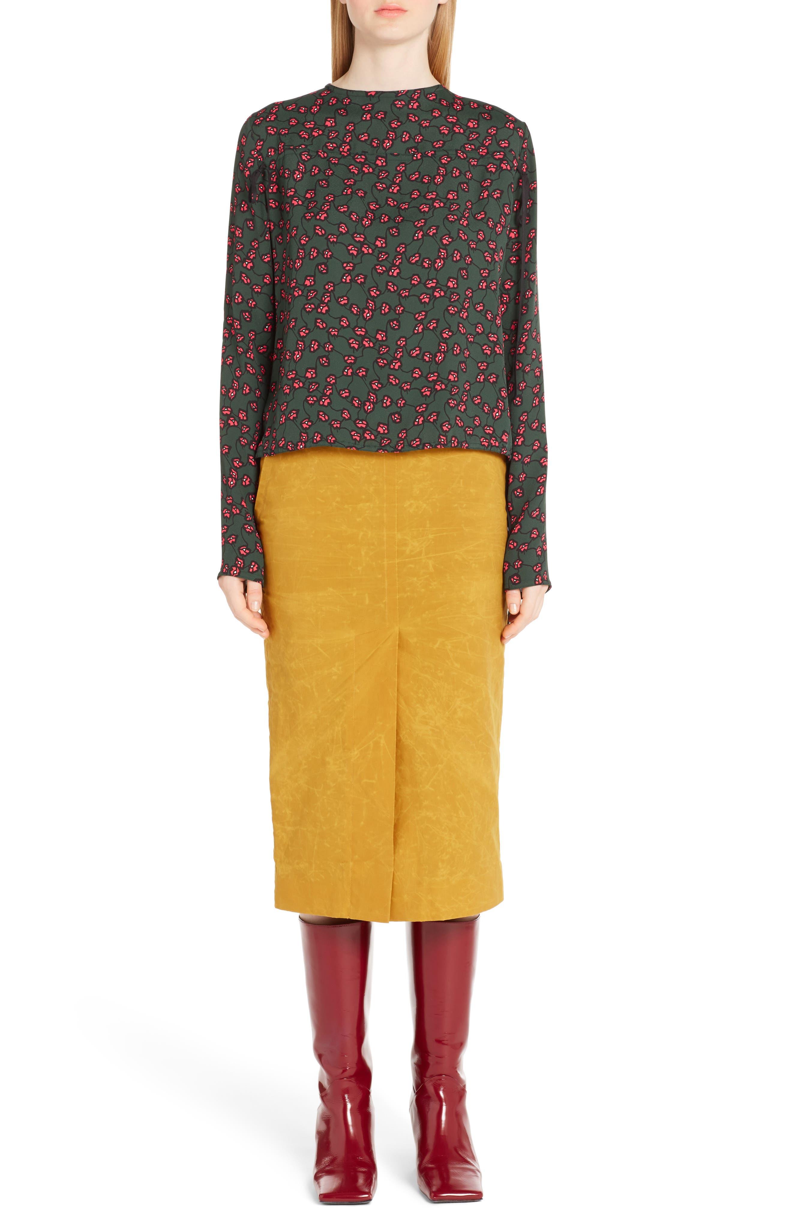 Alternate Image 6  - Marni Waxed Cotton Pencil Skirt
