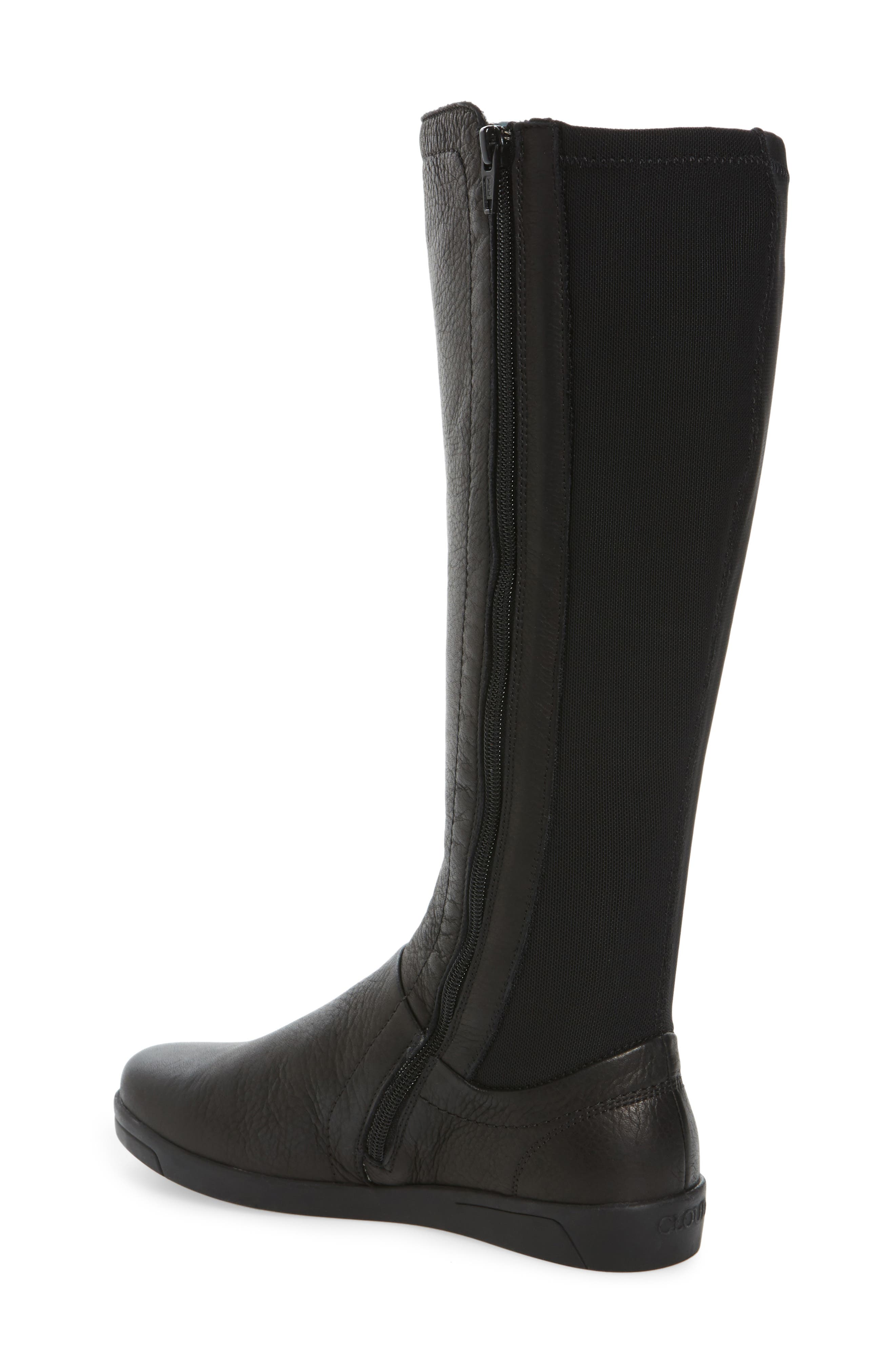 Ace Tall Boot,                             Alternate thumbnail 2, color,                             Black Leather