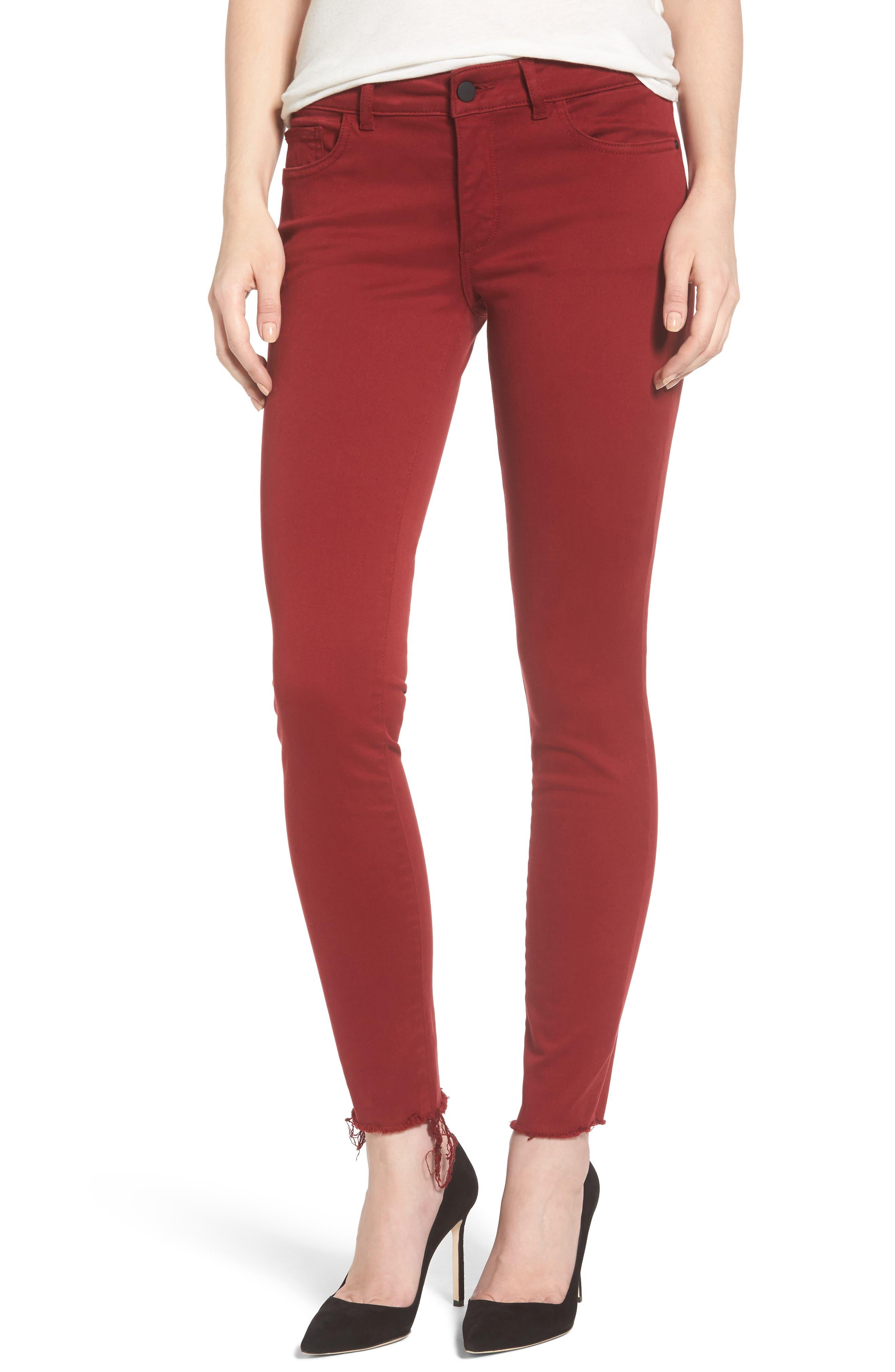 Alternate Image 1 Selected - DL1961 Emma Power Legging Jeans (Rhubarb)