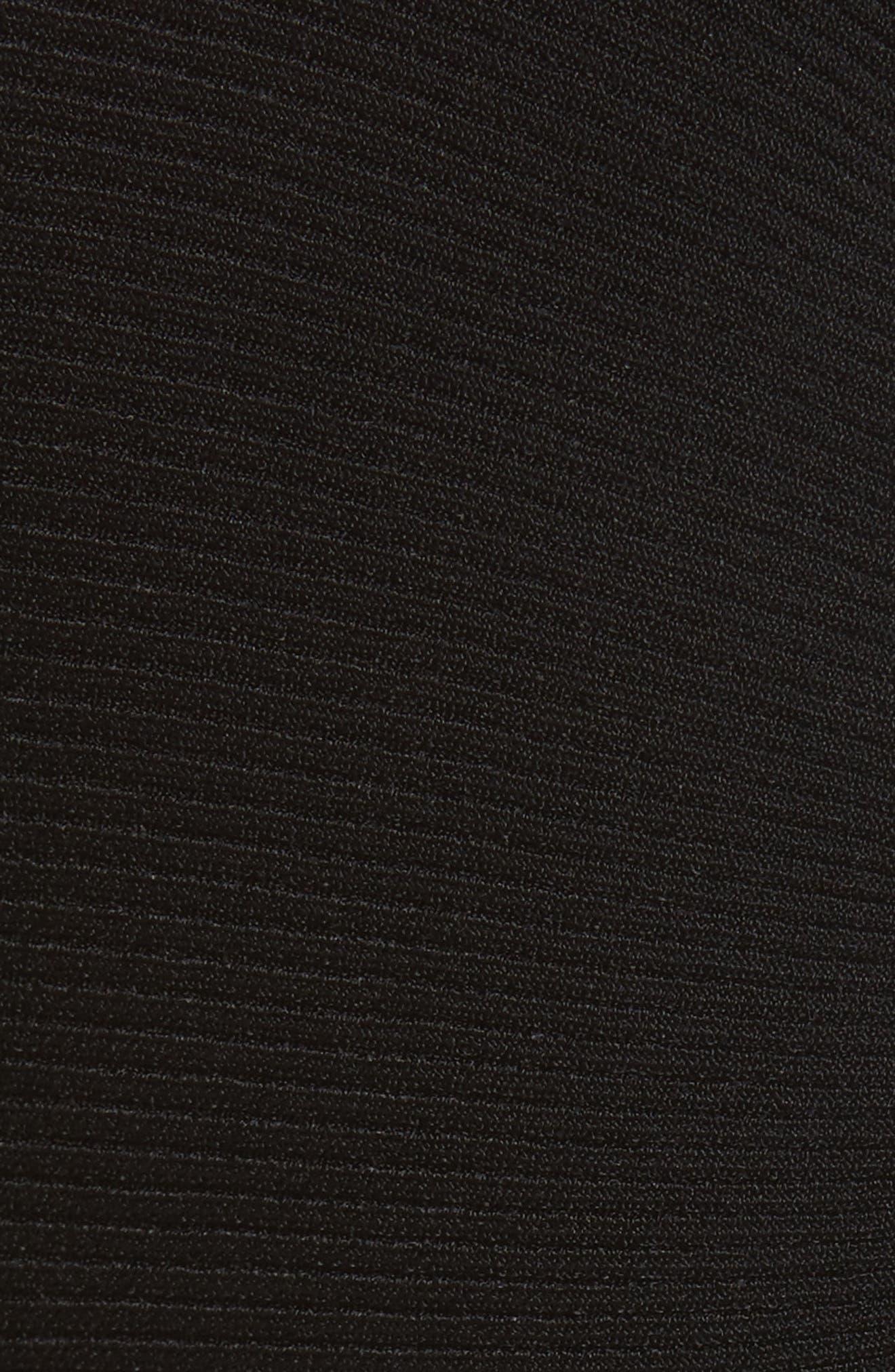 Technical Rib Open Back Dress,                             Alternate thumbnail 5, color,                             Black