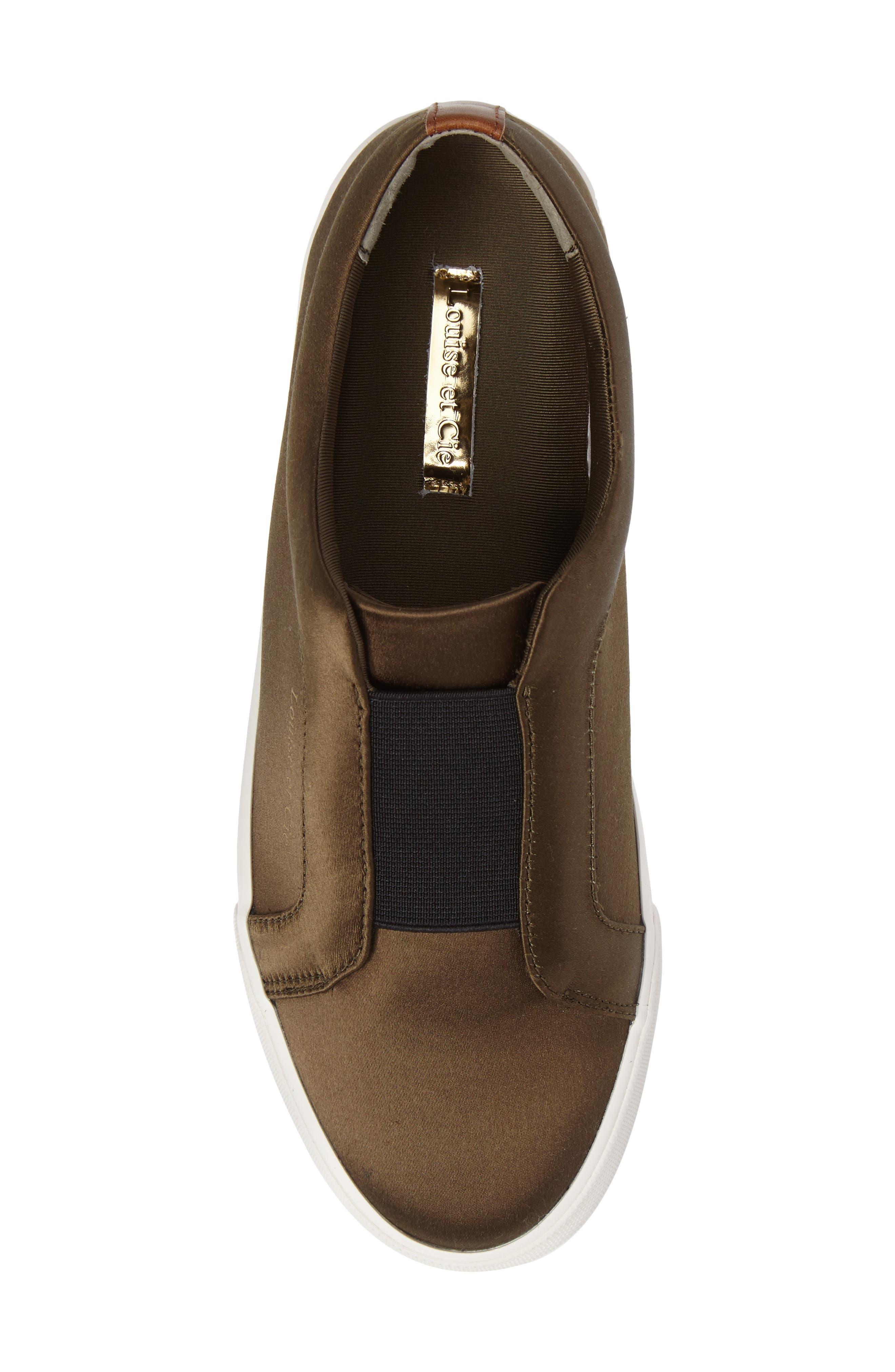 Bette Slip-On Sneaker,                             Alternate thumbnail 5, color,                             Peacoat/ Black Satin
