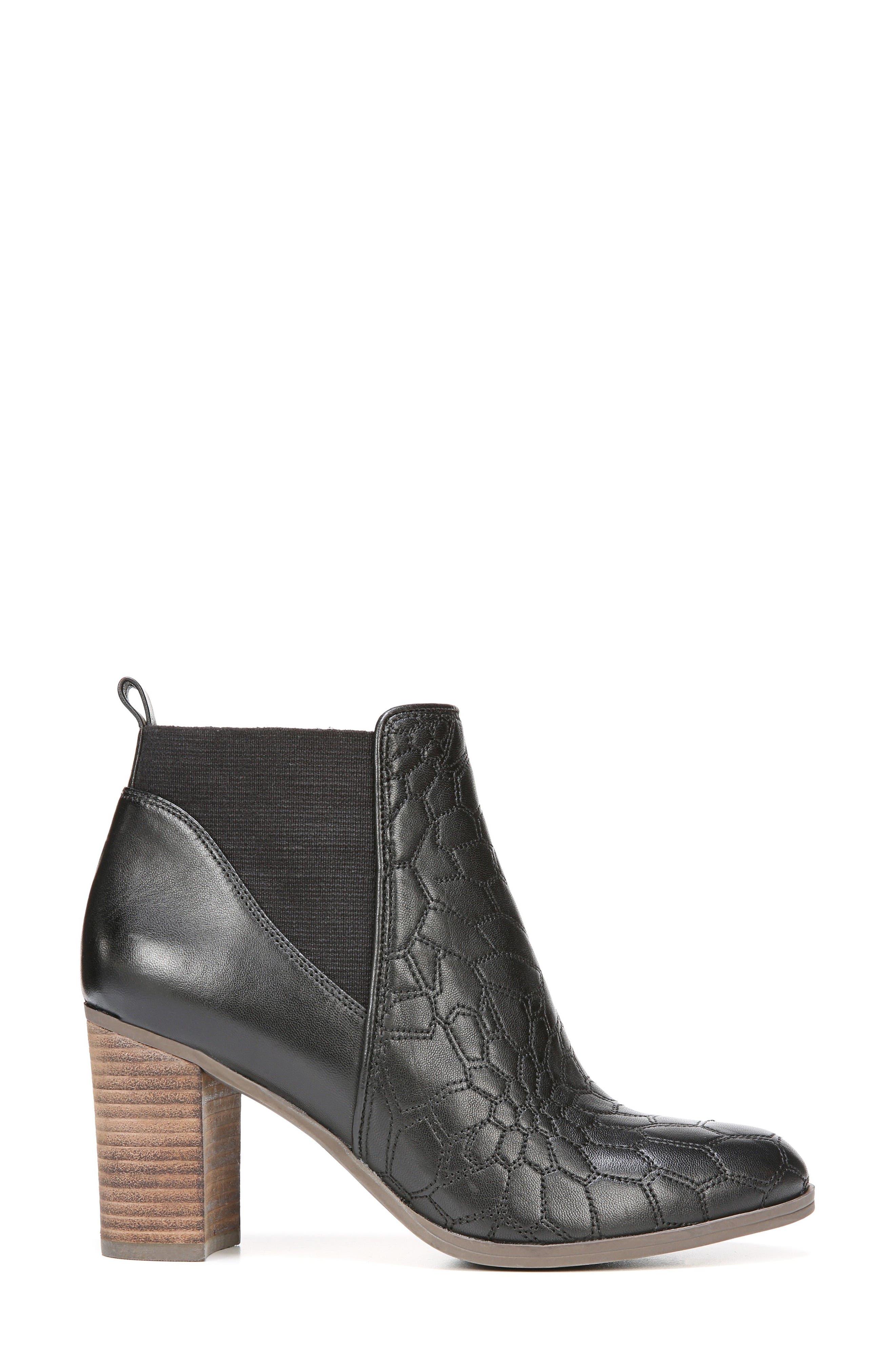 Dixie Bootie,                             Alternate thumbnail 3, color,                             Black Leather