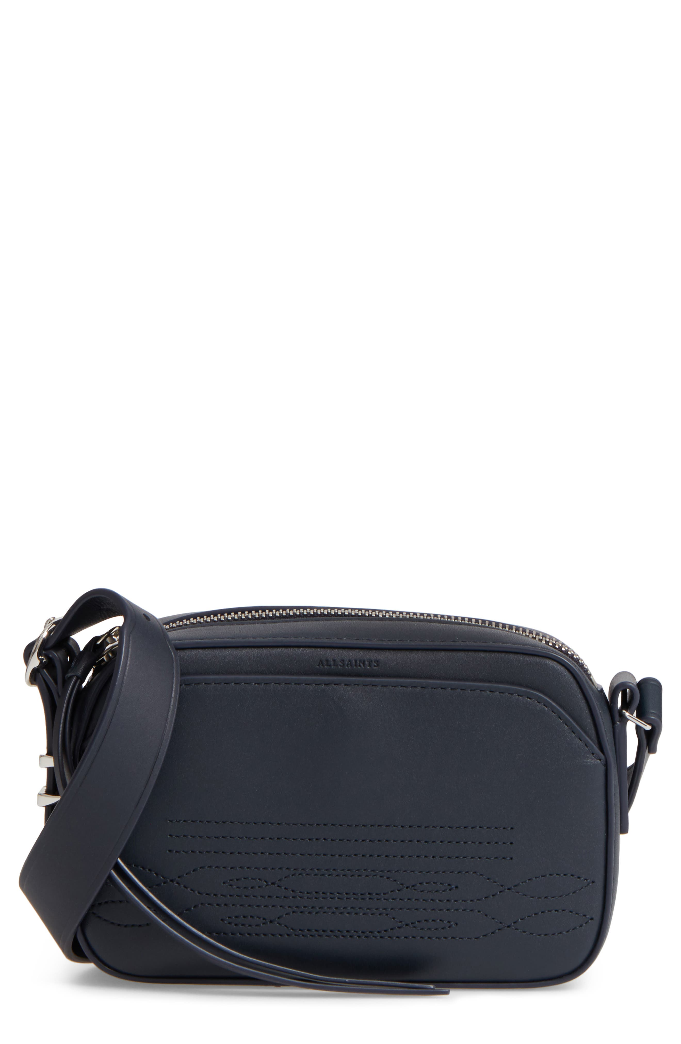 ALLSAINTS Small Cooper Calfskin Leather Shoulder Bag