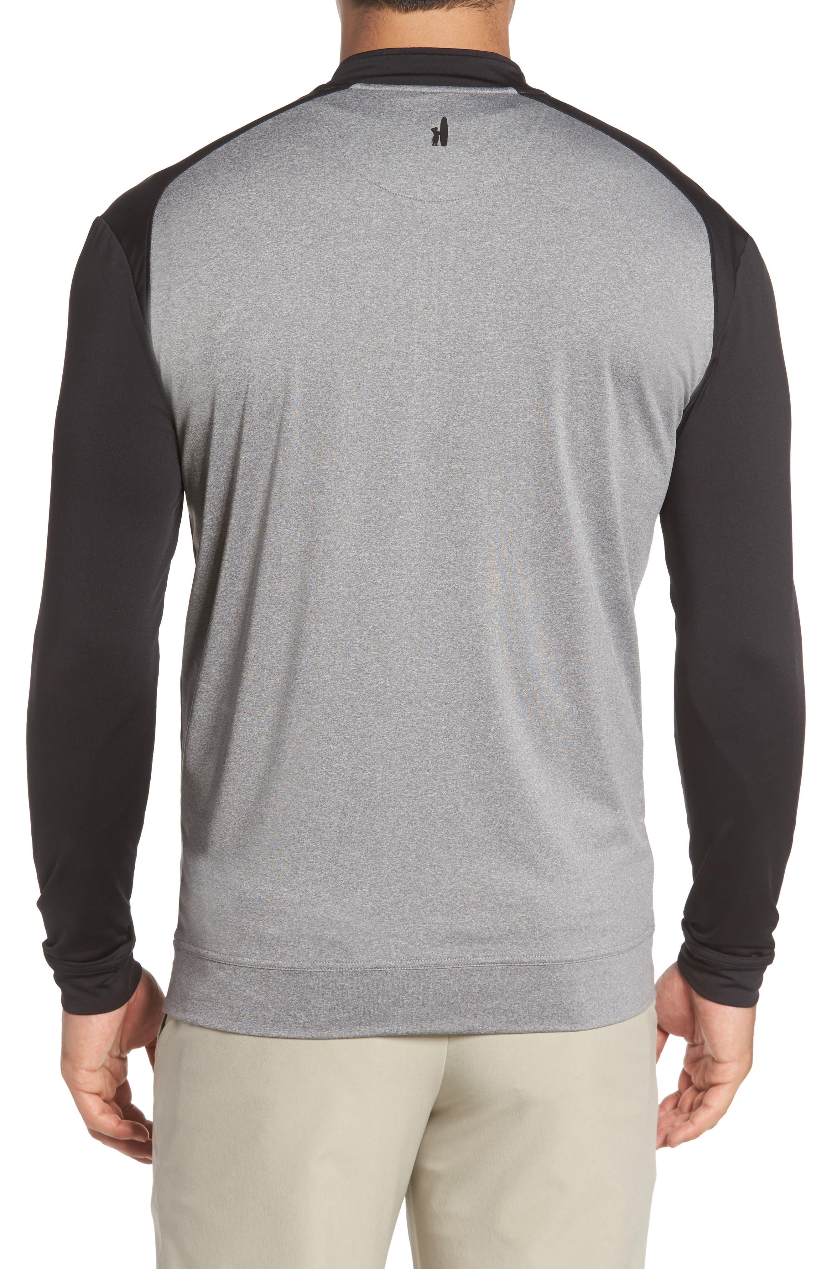Sway Classic Fit Zip Raglan Pullover,                             Alternate thumbnail 2, color,                             Black