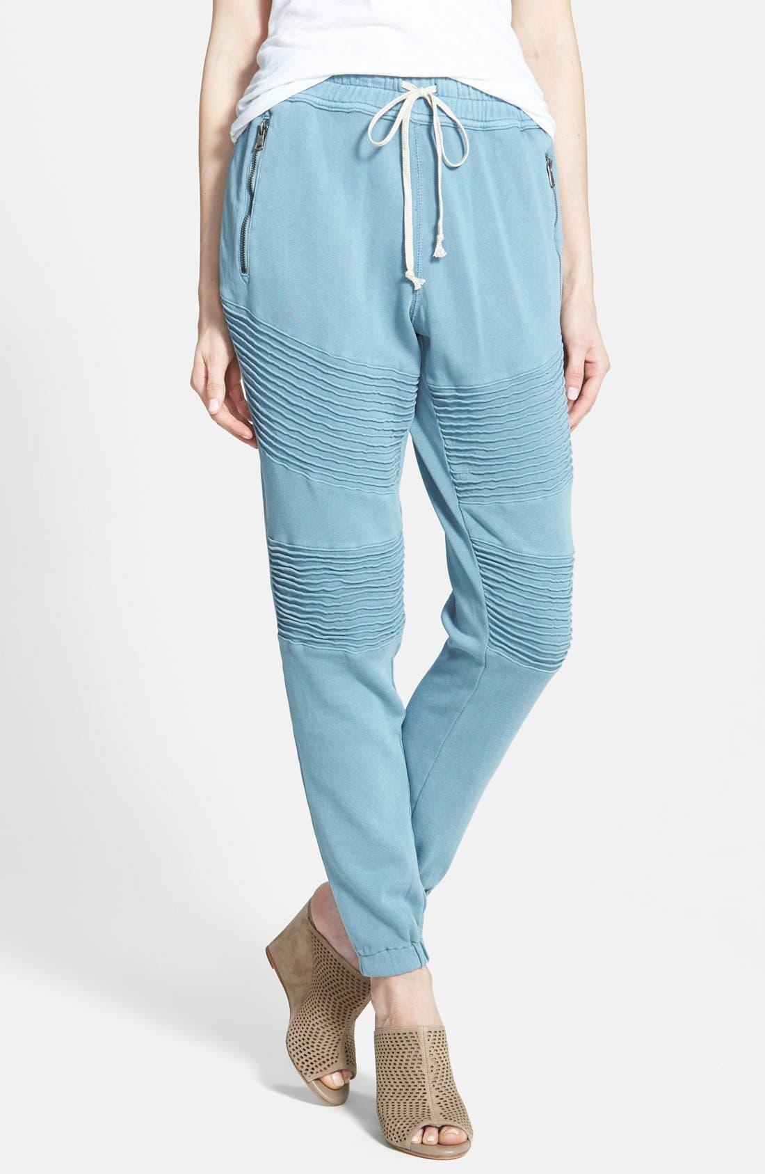 Alternate Image 1 Selected - Hudson Jeans 'Avery' Moto Sweatpants