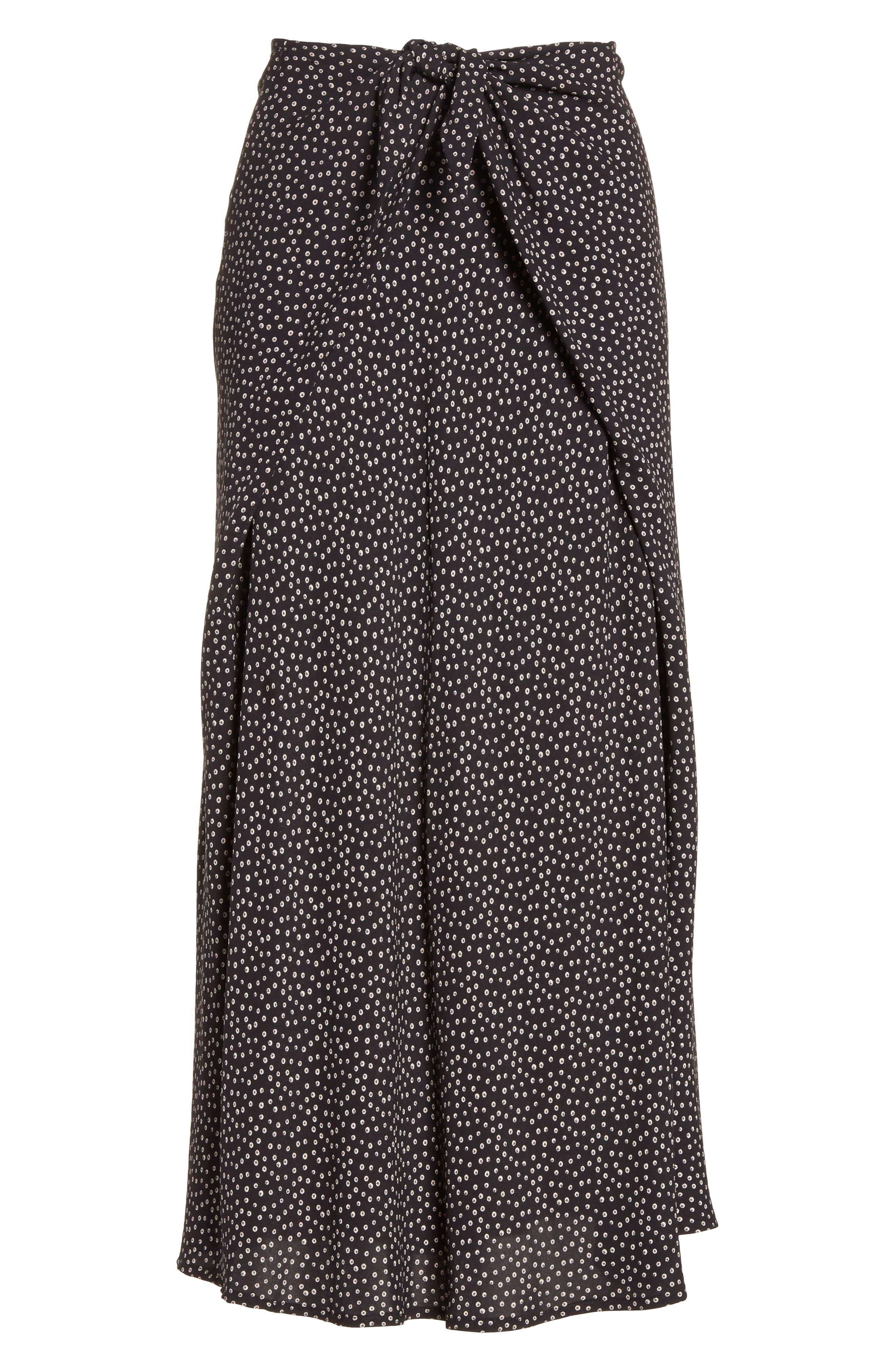 Celestial Polka Dot Skirt,                             Alternate thumbnail 7, color,                             Black/ Dark Wolf