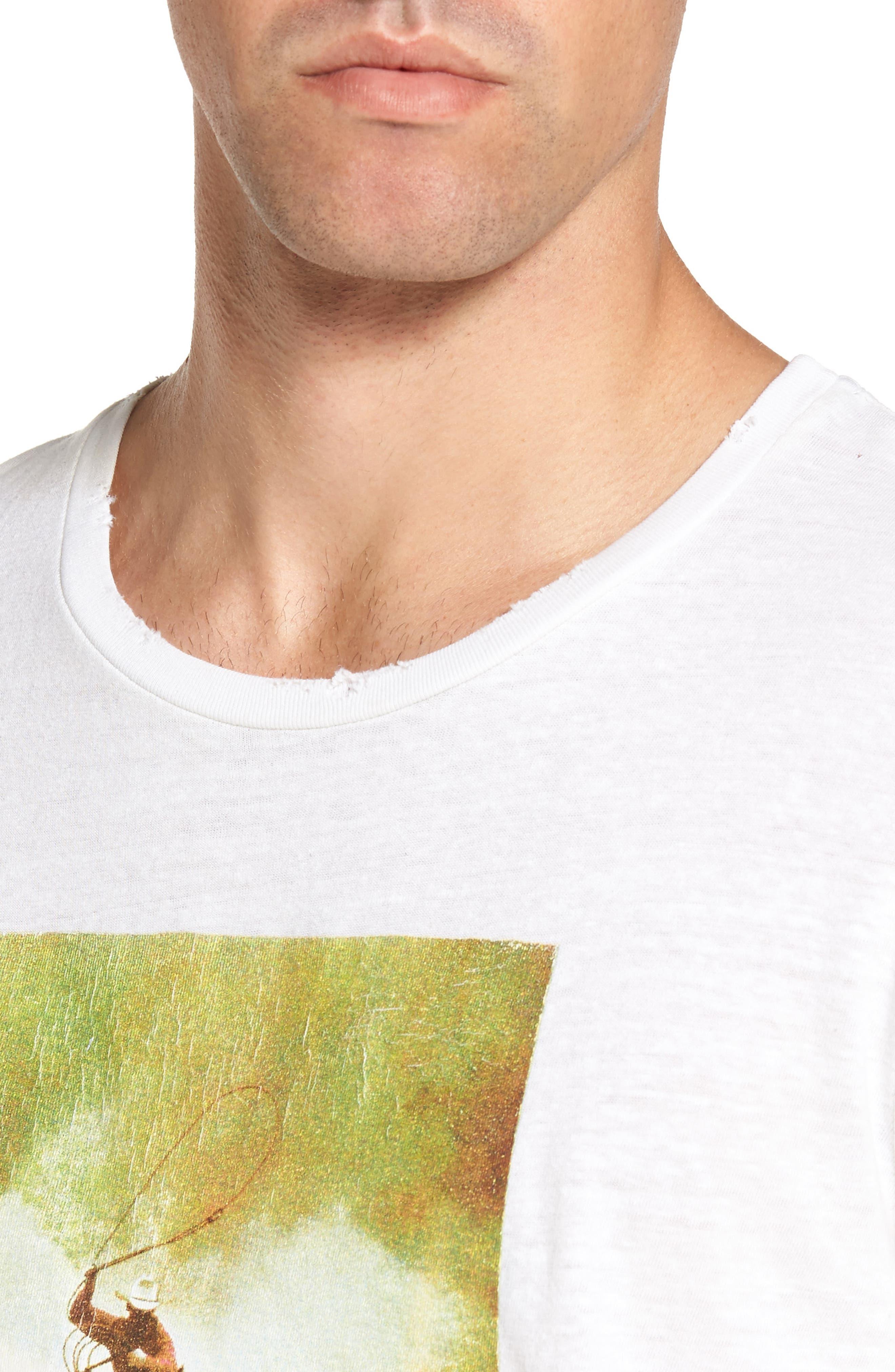 Bronco 6 T-Shirt,                             Alternate thumbnail 4, color,                             Blanc