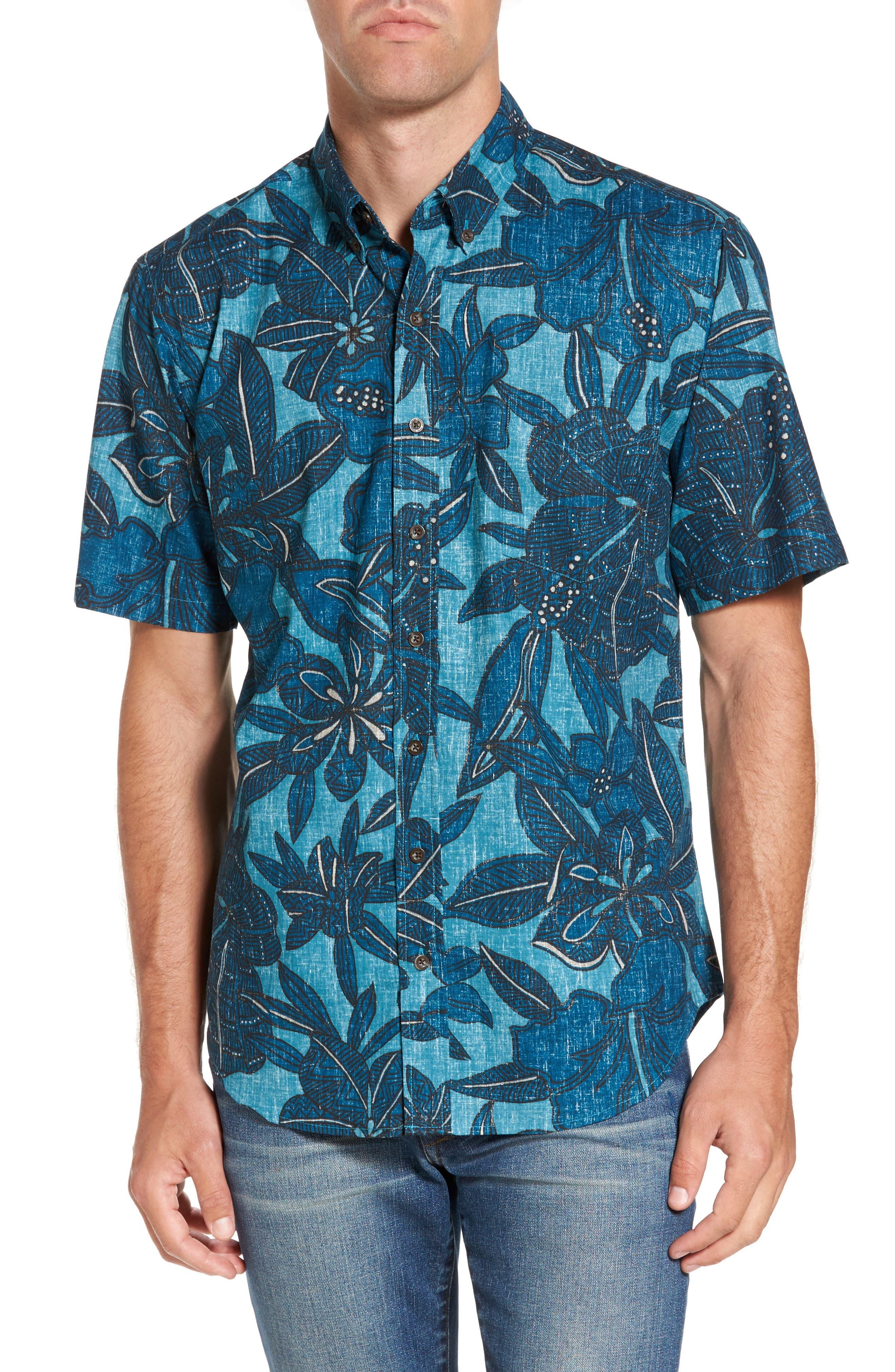 Alternate Image 1 Selected - Reyn Spooner Tribal Blooms Classic Fit Sport Shirt