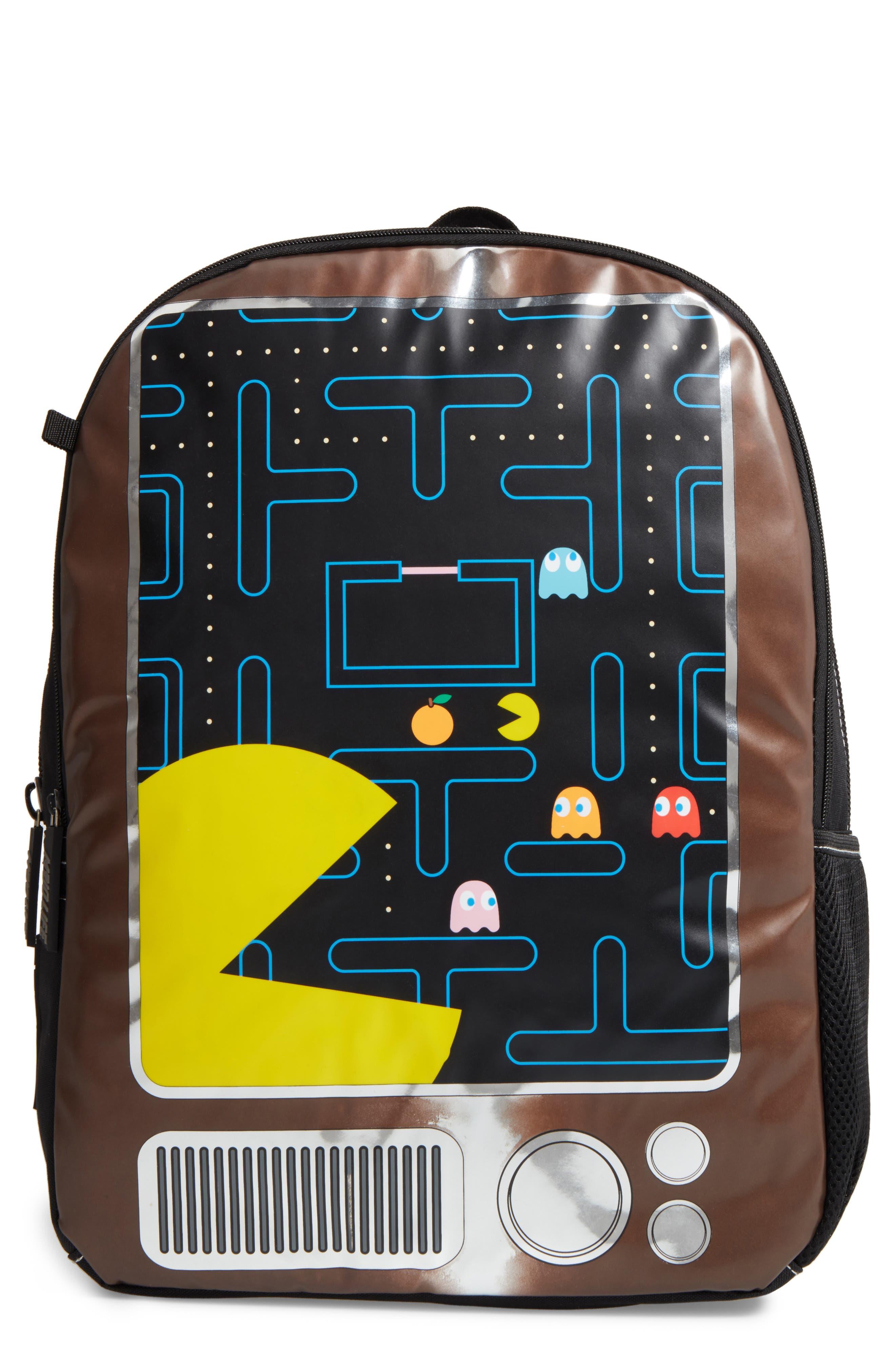 Pac-Man x MOJO Life Backpack,                             Main thumbnail 1, color,                             Black