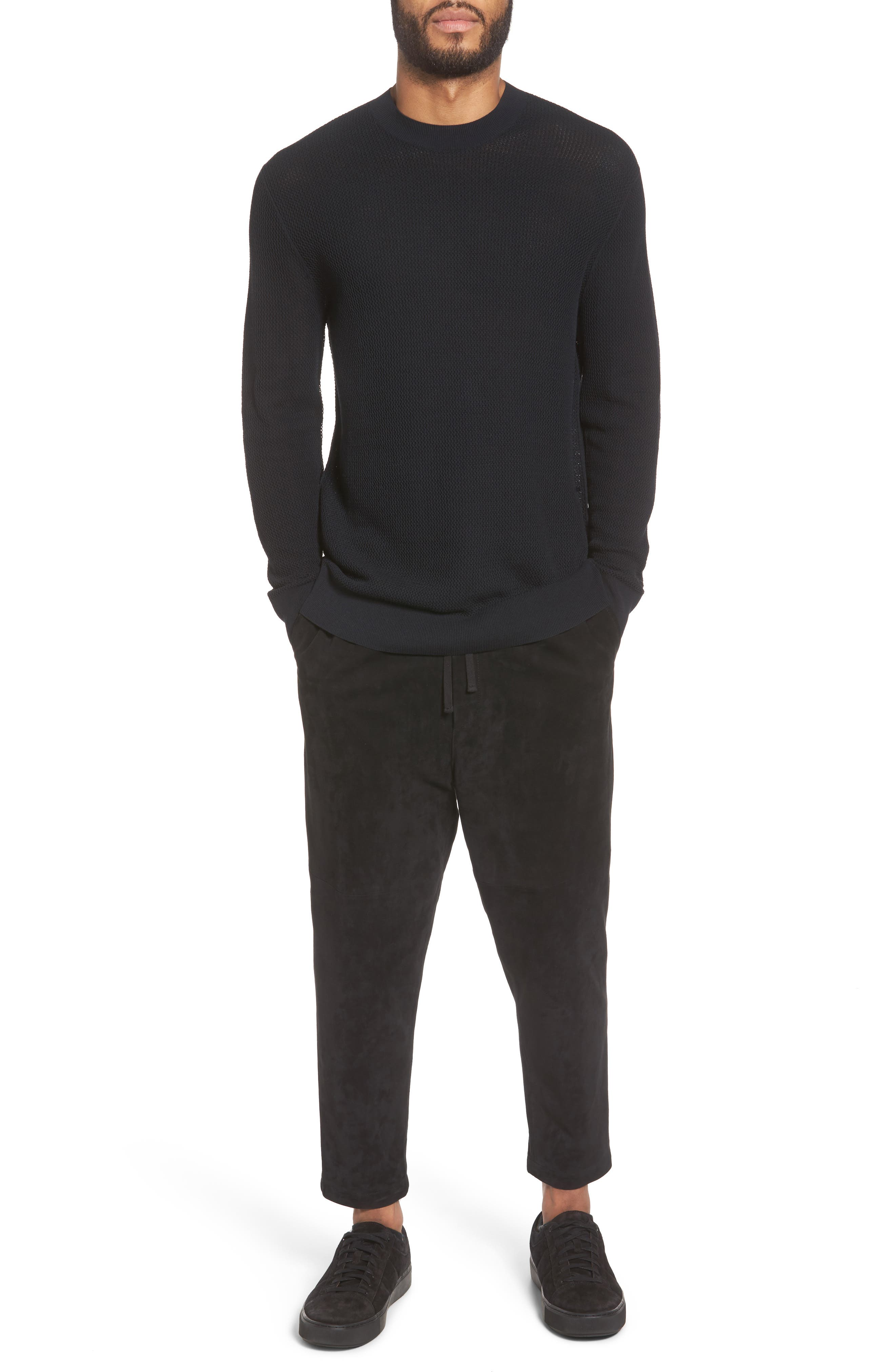 Alternate Image 7  - Vince Mesh Crewneck Sweater