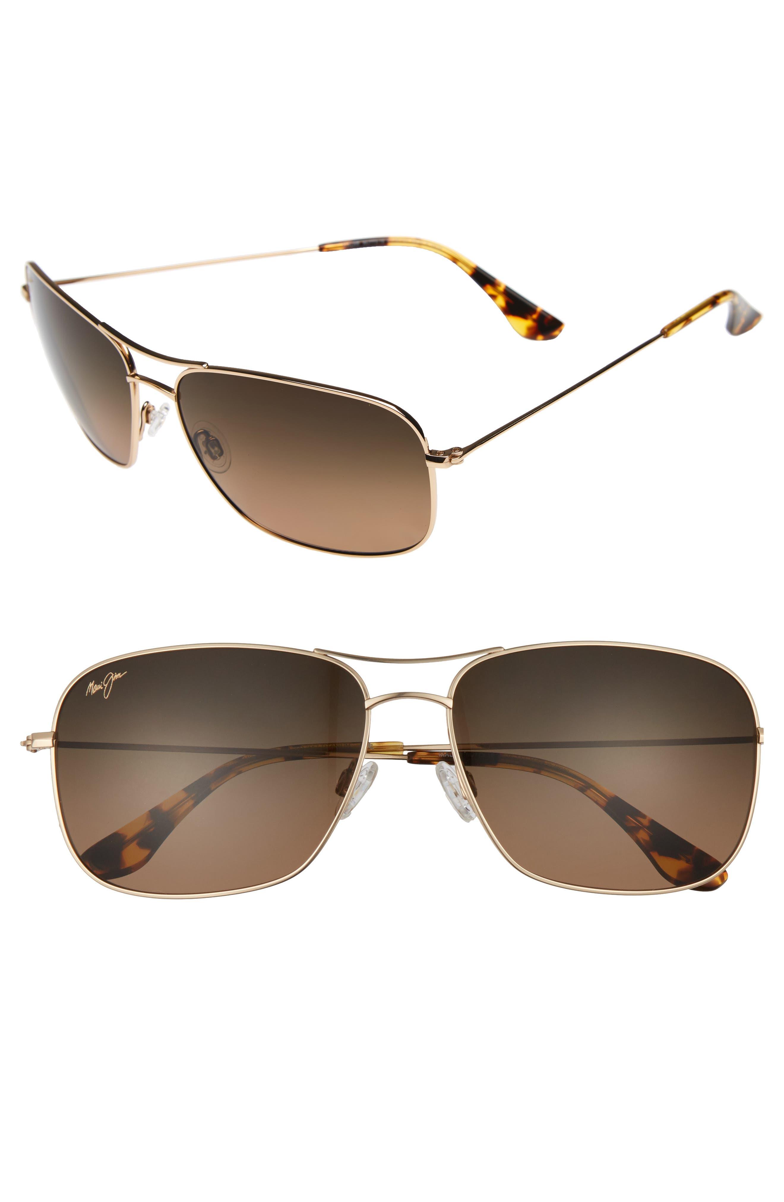 Breezeway 63mm PolarizedPlus2<sup>®</sup> Sunglasses,                         Main,                         color, Gold
