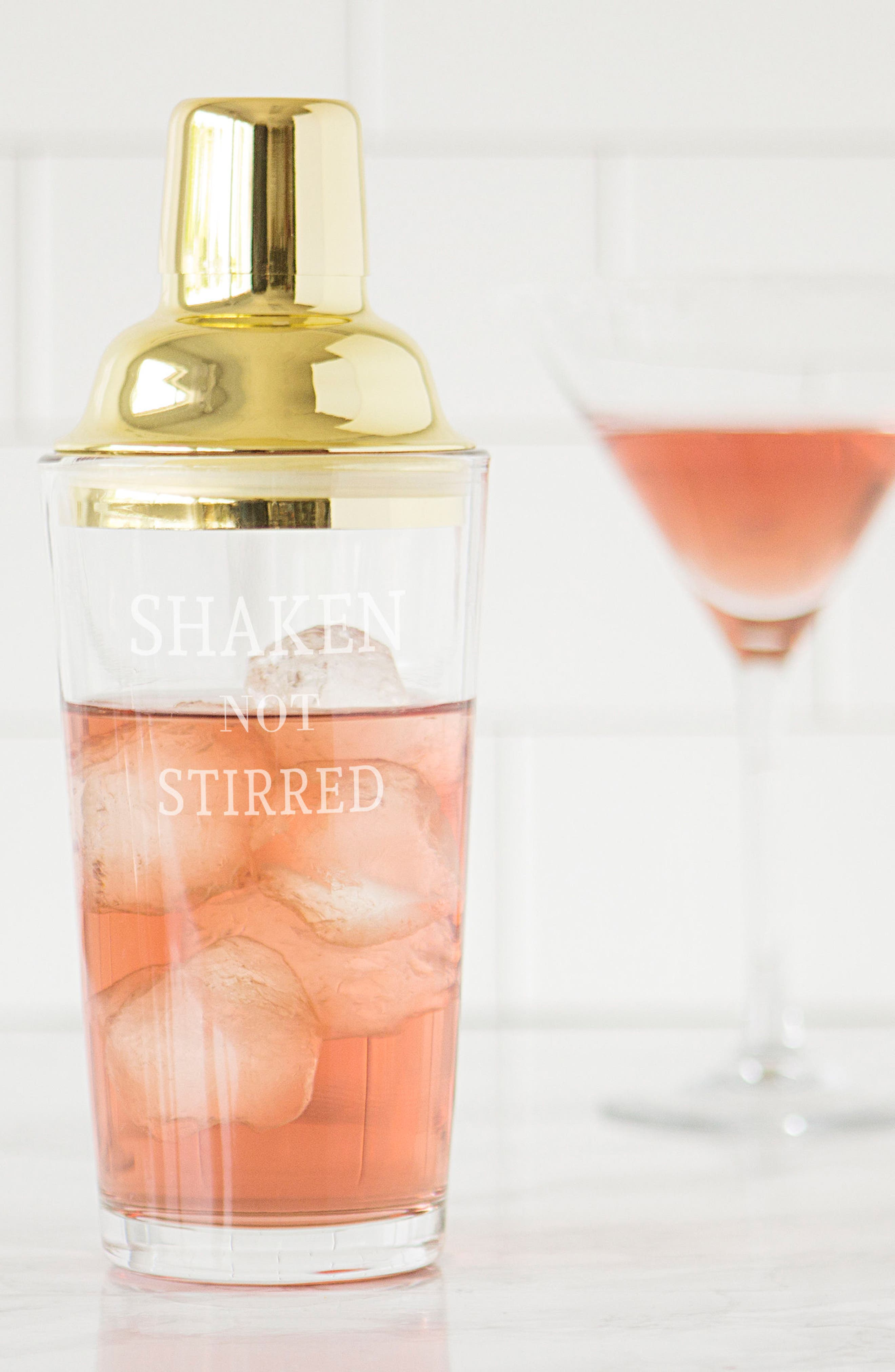 Shaken Not Stirred Cocktail Shaker,                             Alternate thumbnail 6, color,                             Metallic Gold