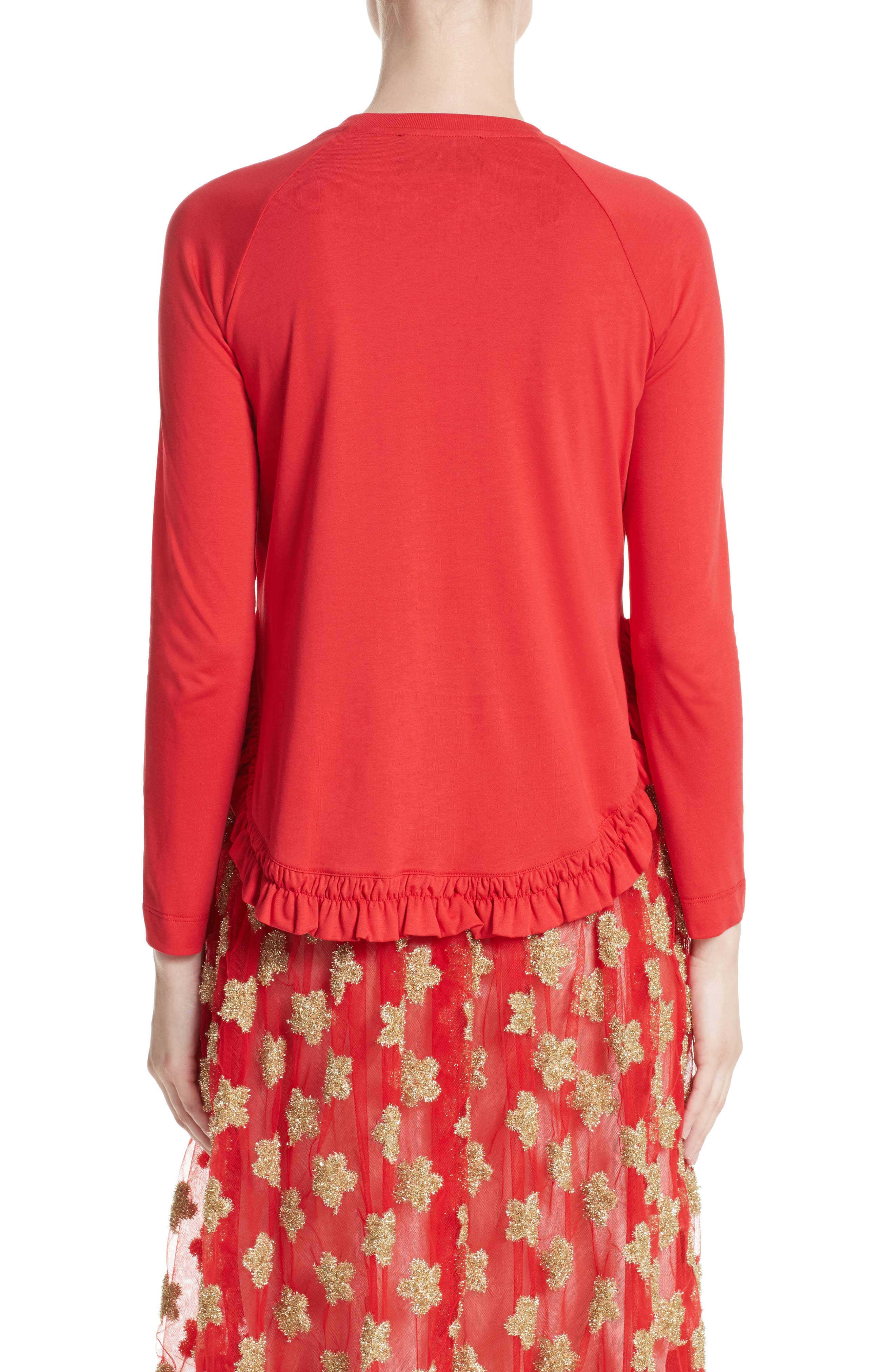 Frill Tee,                             Alternate thumbnail 2, color,                             Red