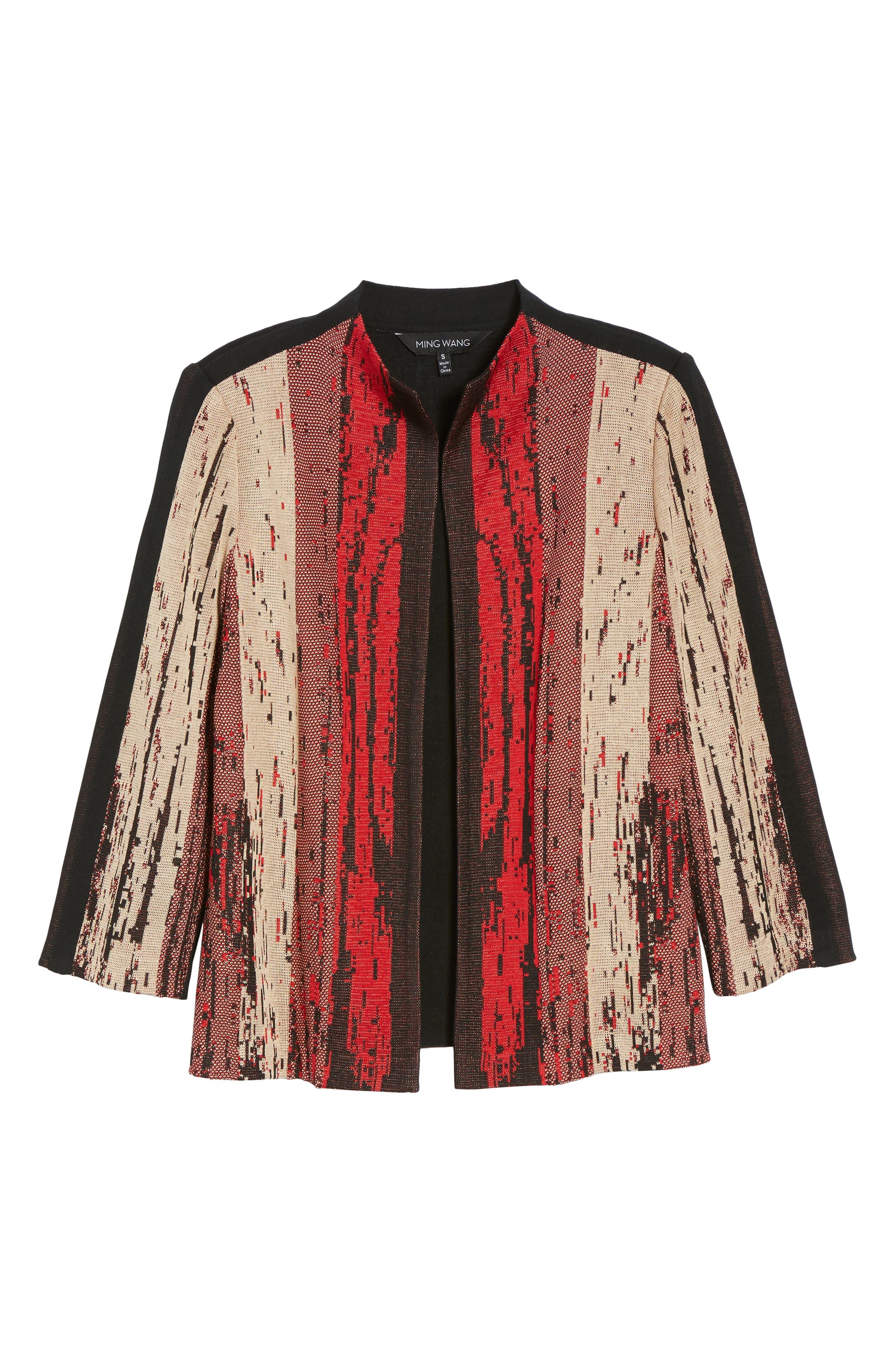 Alternate Image 6  - Ming Wang Jacquard Front Jacket