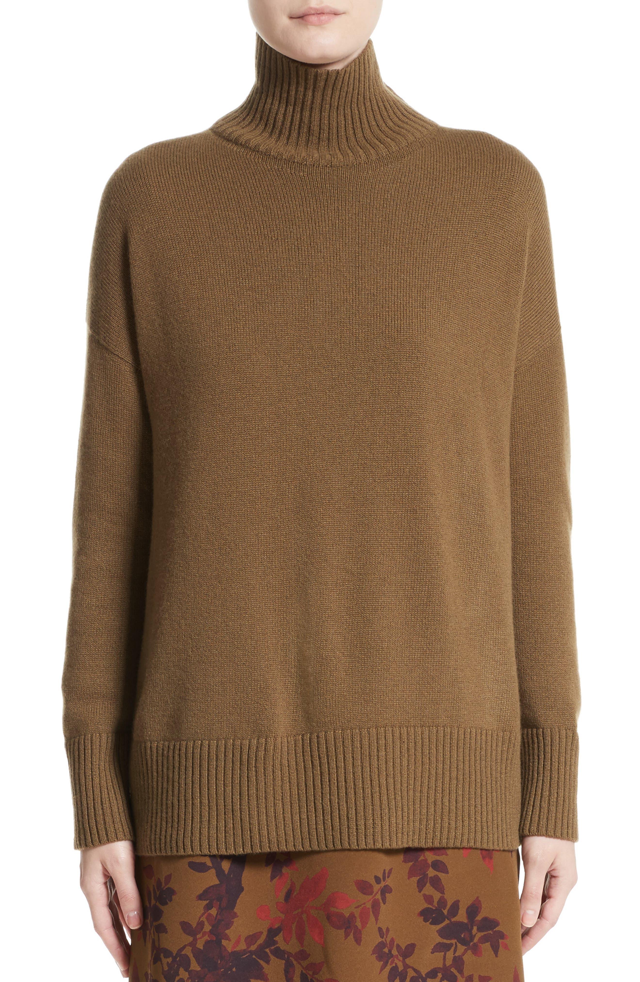 Lafayette 148 New York Cashmere Oversize Turtleneck Sweater