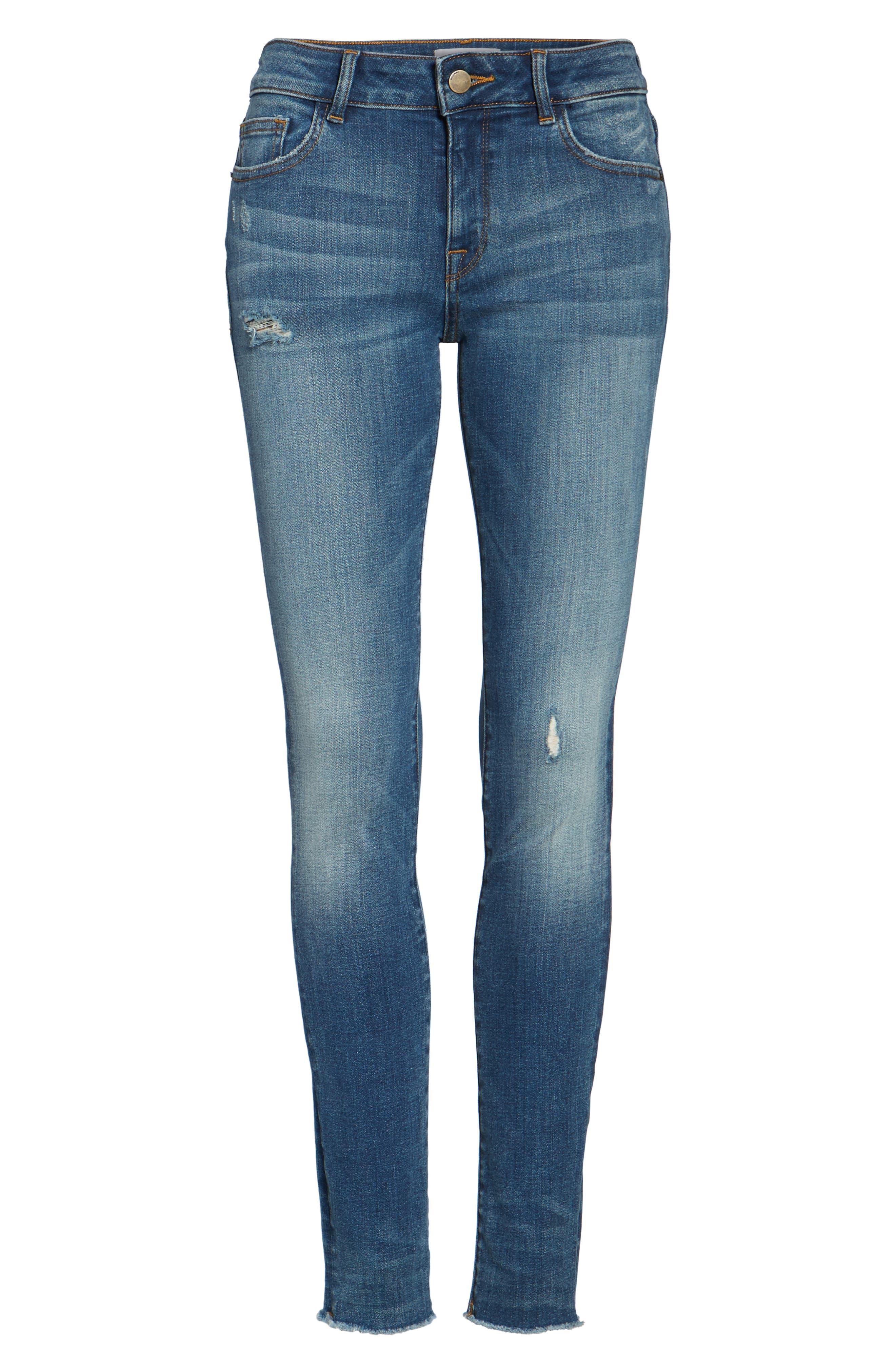 Florence Instasculpt Skinny Jeans,                             Alternate thumbnail 6, color,                             Aztec
