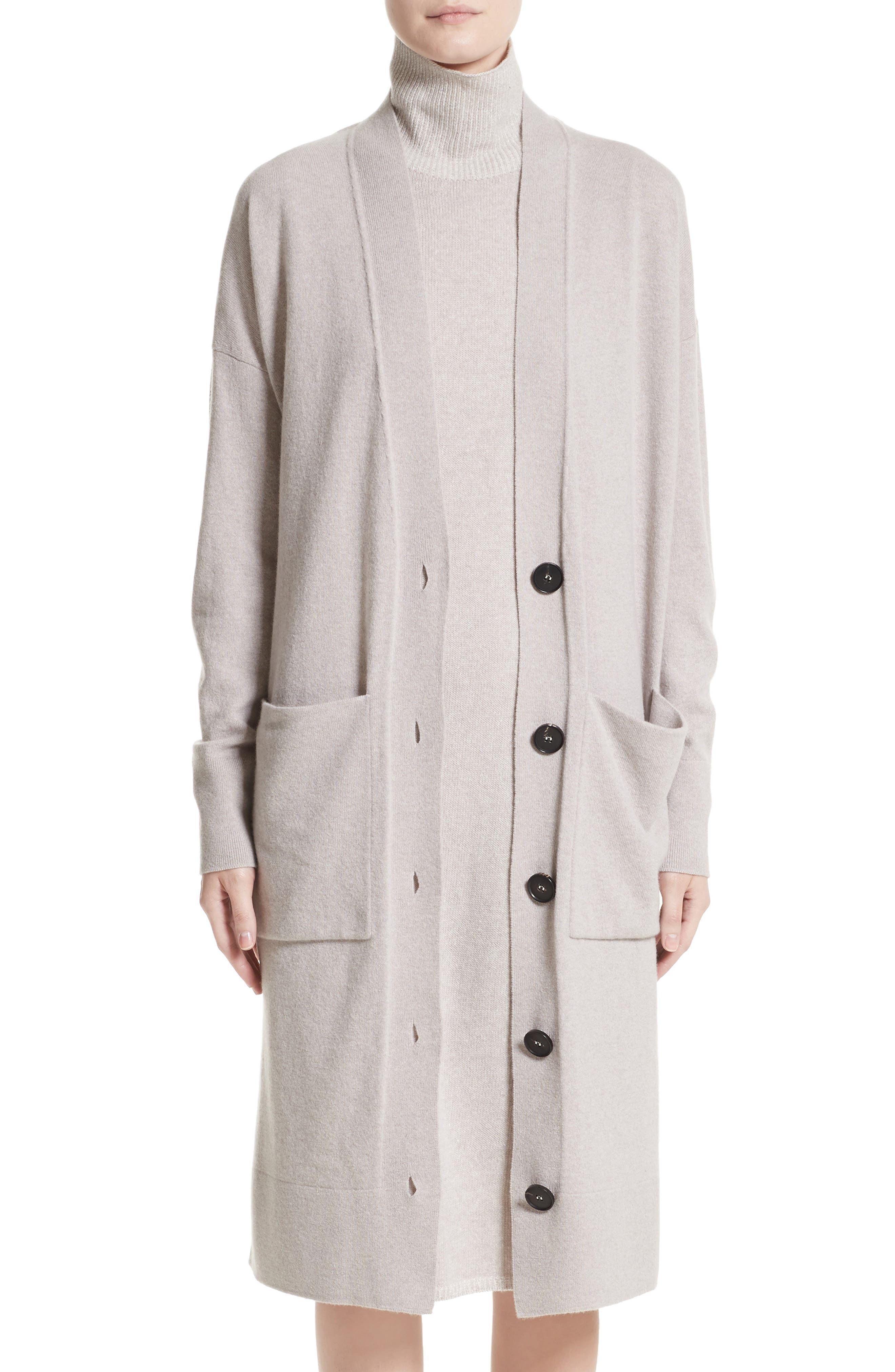 Lafayette 148 New York Long Merino Wool & Cashmere Cardigan