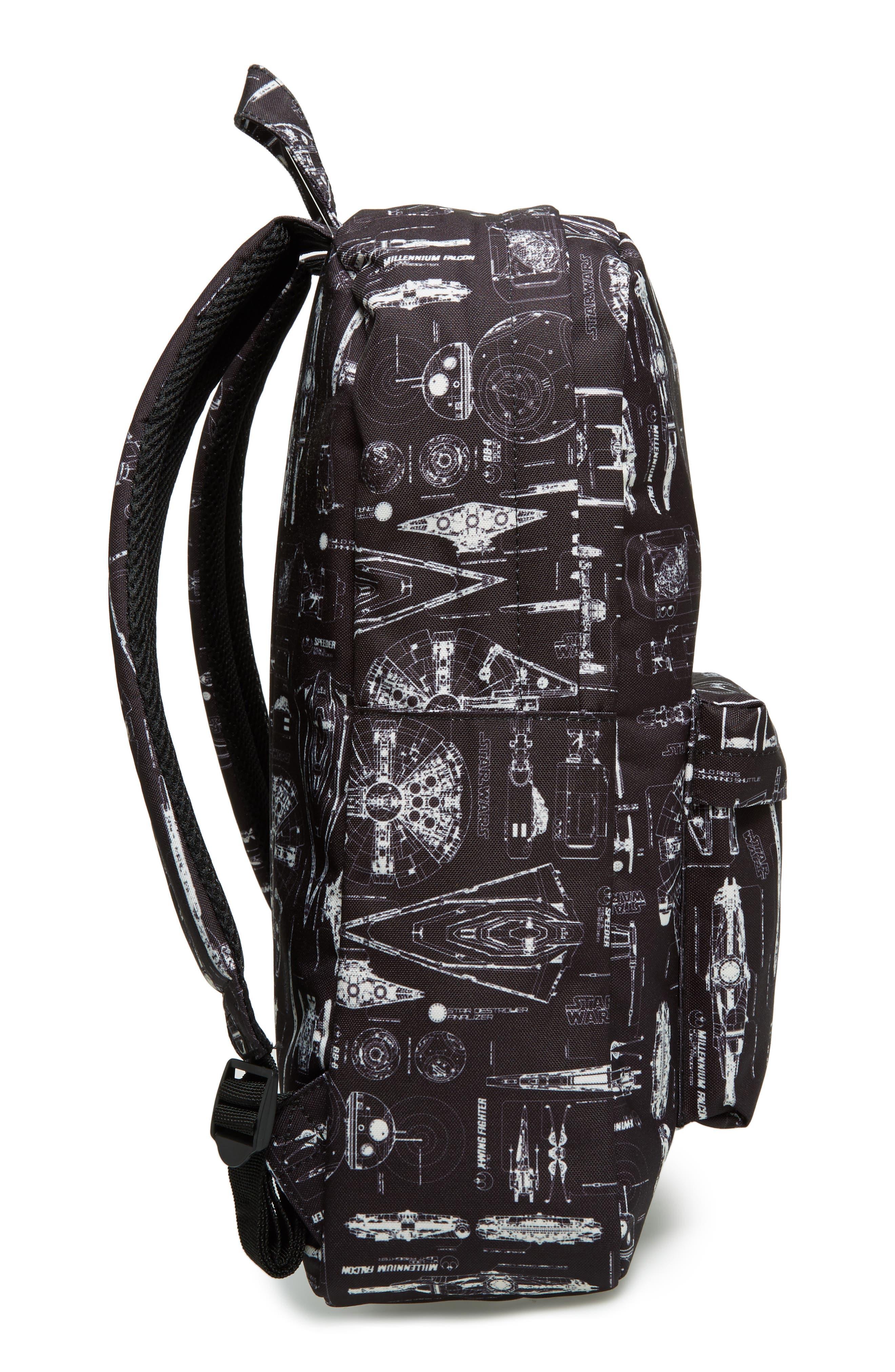 Star Wars<sup>™</sup> The Force Awakens Blueprint Backpack,                             Alternate thumbnail 4, color,                             Black