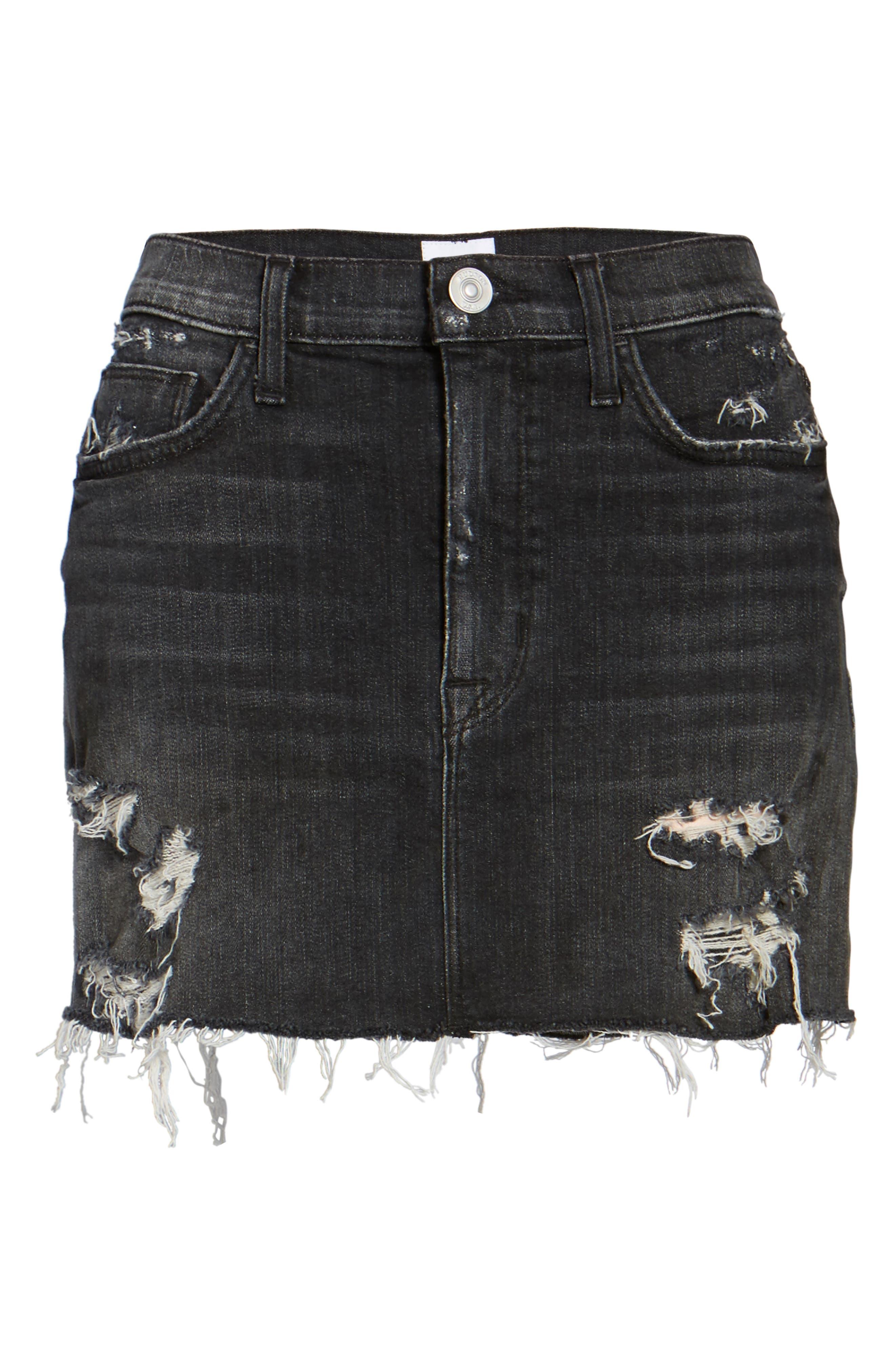 Hudson Vivid Cutoff Denim Miniskirt,                             Alternate thumbnail 6, color,                             Pretender