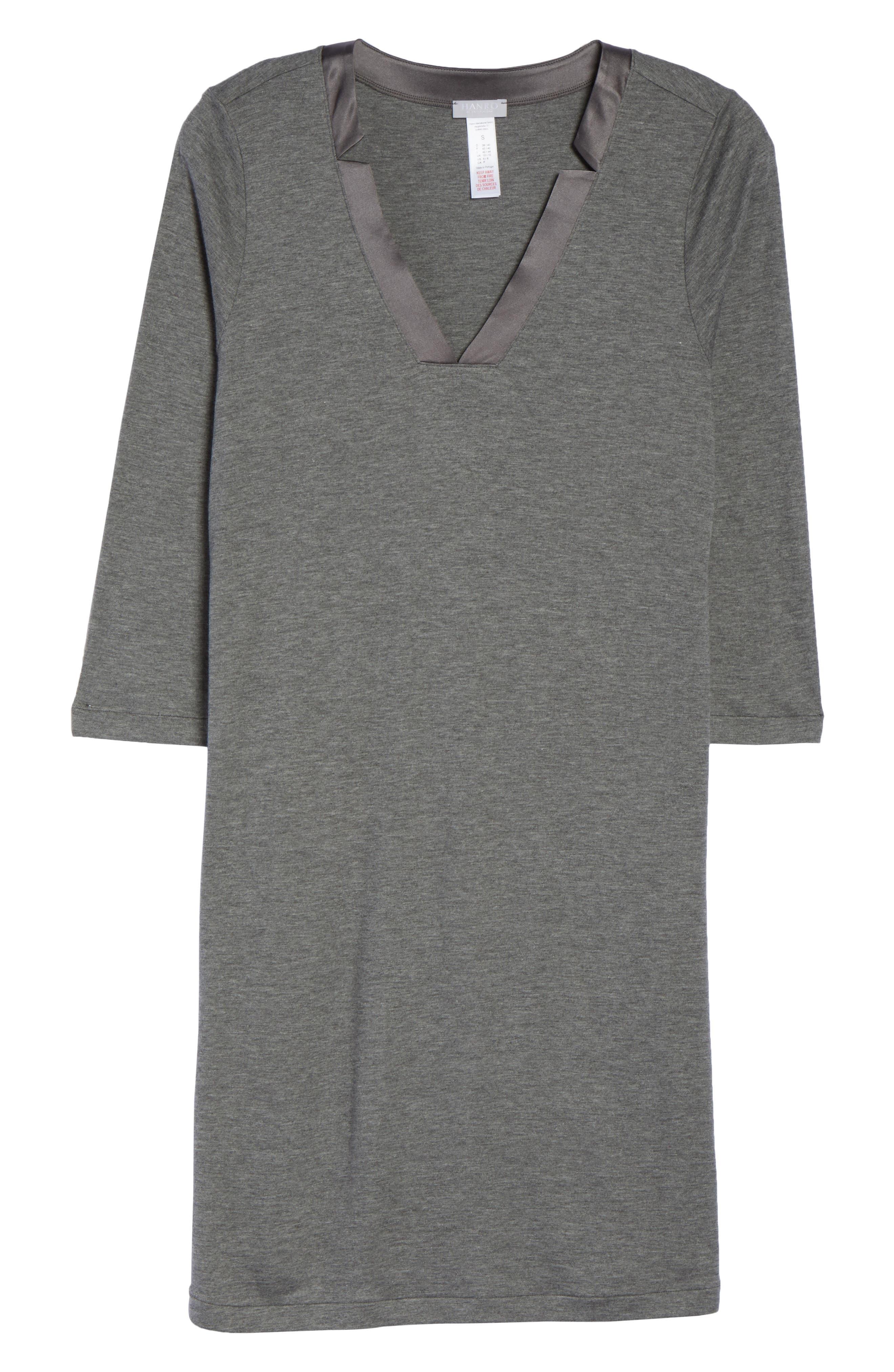 Ivy Nightgown,                             Alternate thumbnail 4, color,                             Stone Melange